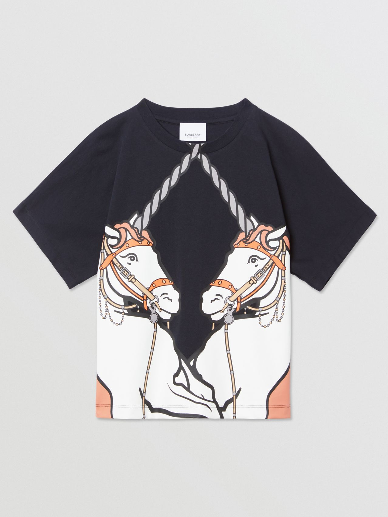 Unicorn Print Cotton T-shirt (Ink)