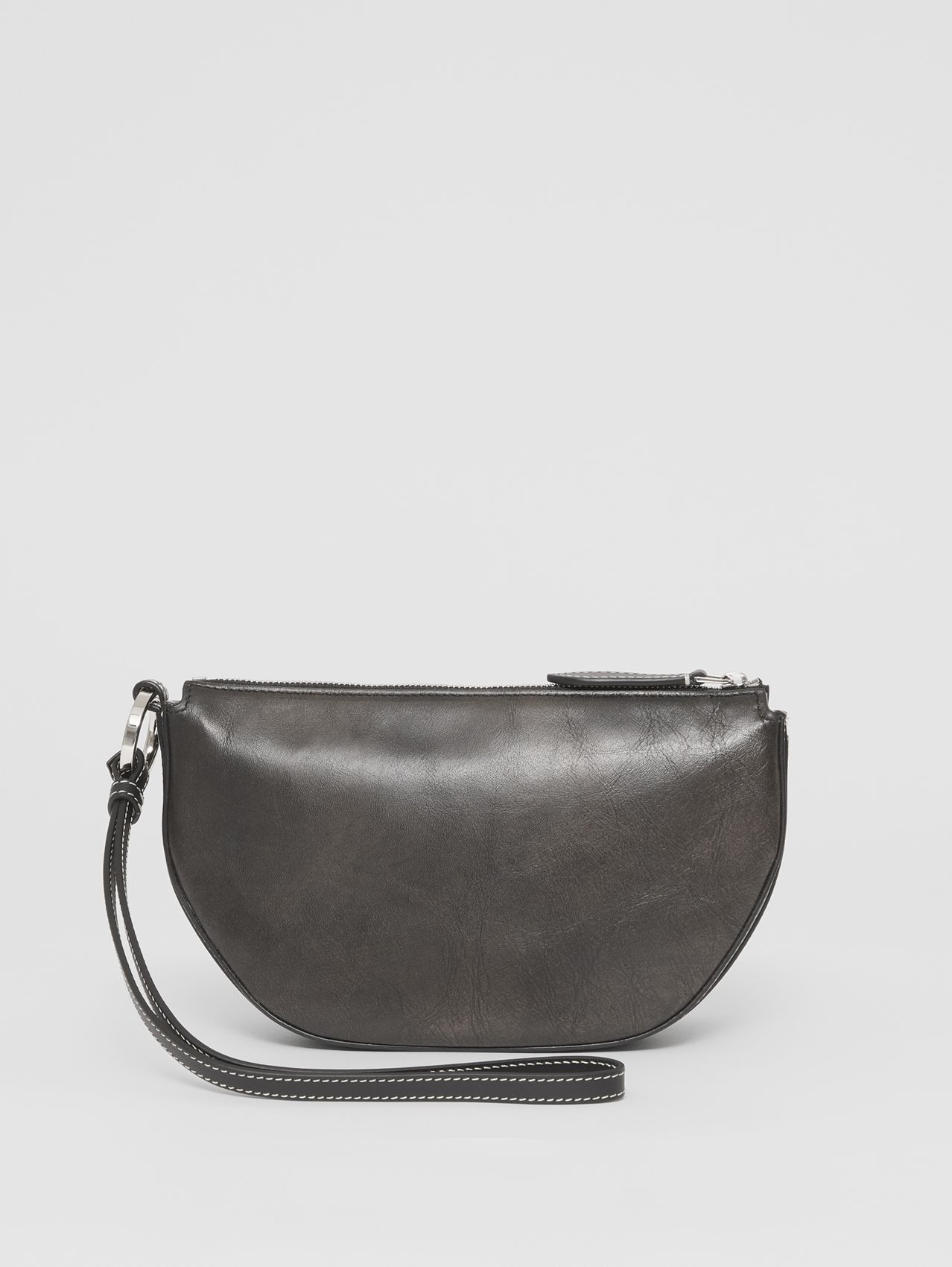 Mini Leather Double Olympia Bag in Black