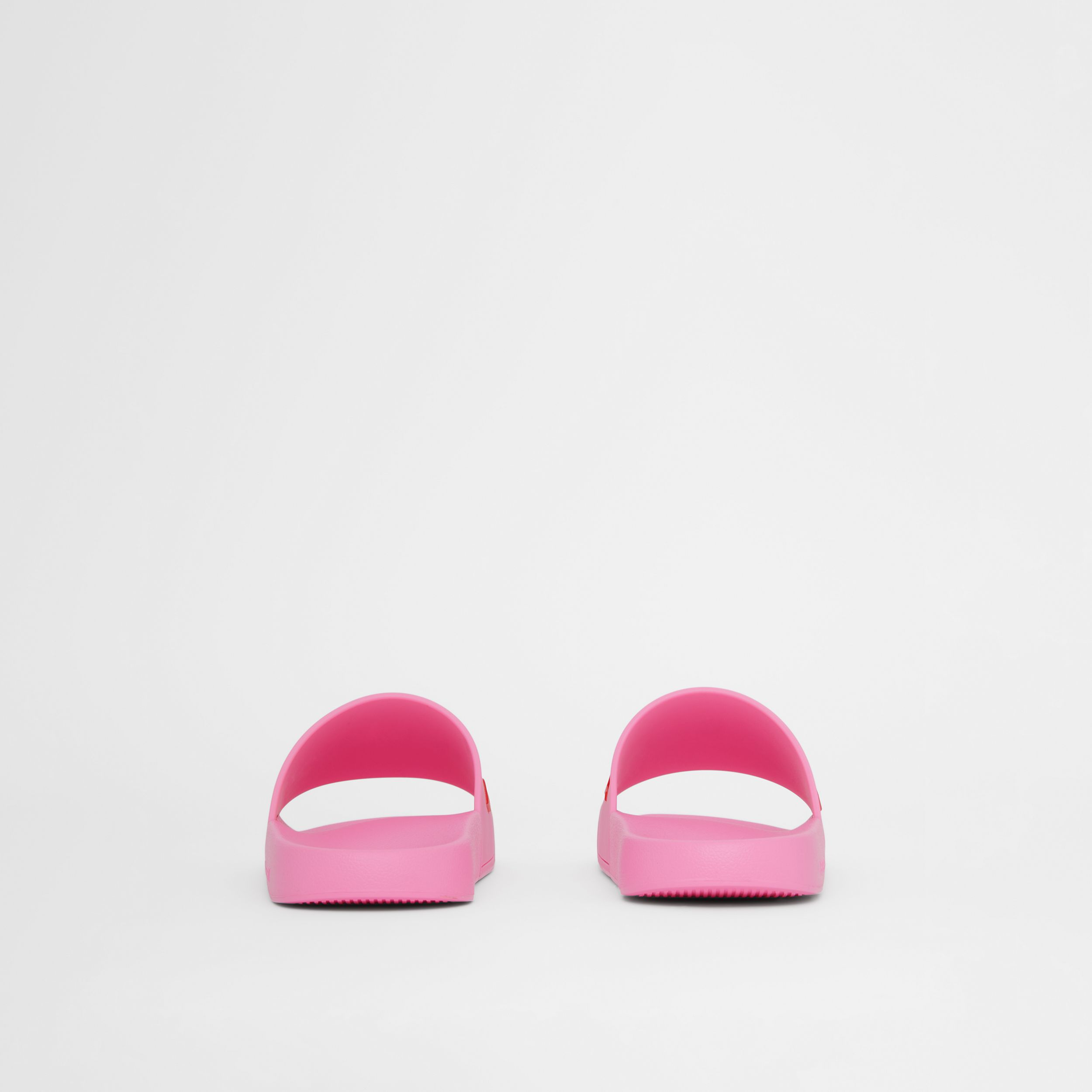 Logo Detail Slides in Bubblegum Pink - Women | Burberry - 4