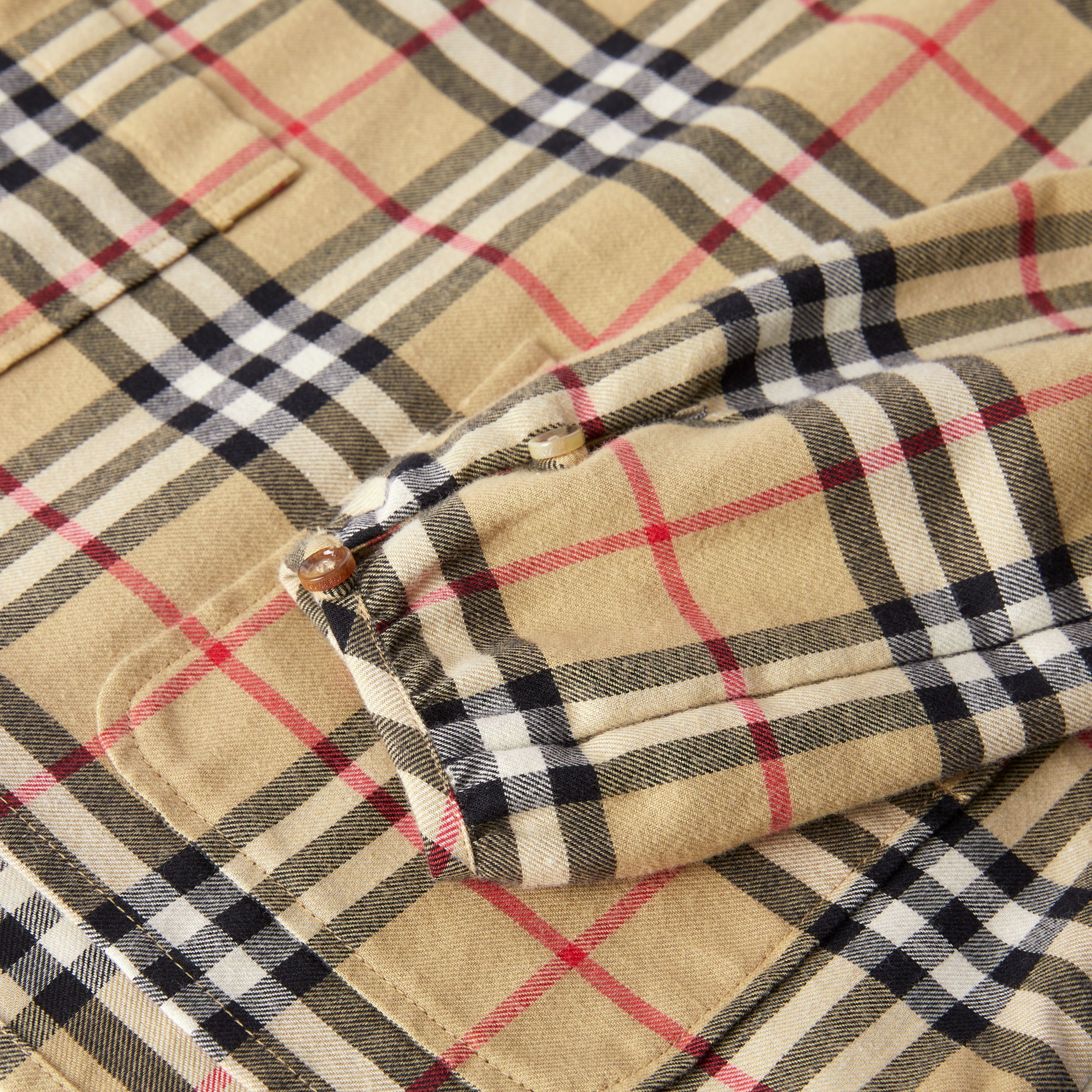 Peter Pan Collar Vintage Check Cotton Blouse | Burberry Canada - 2