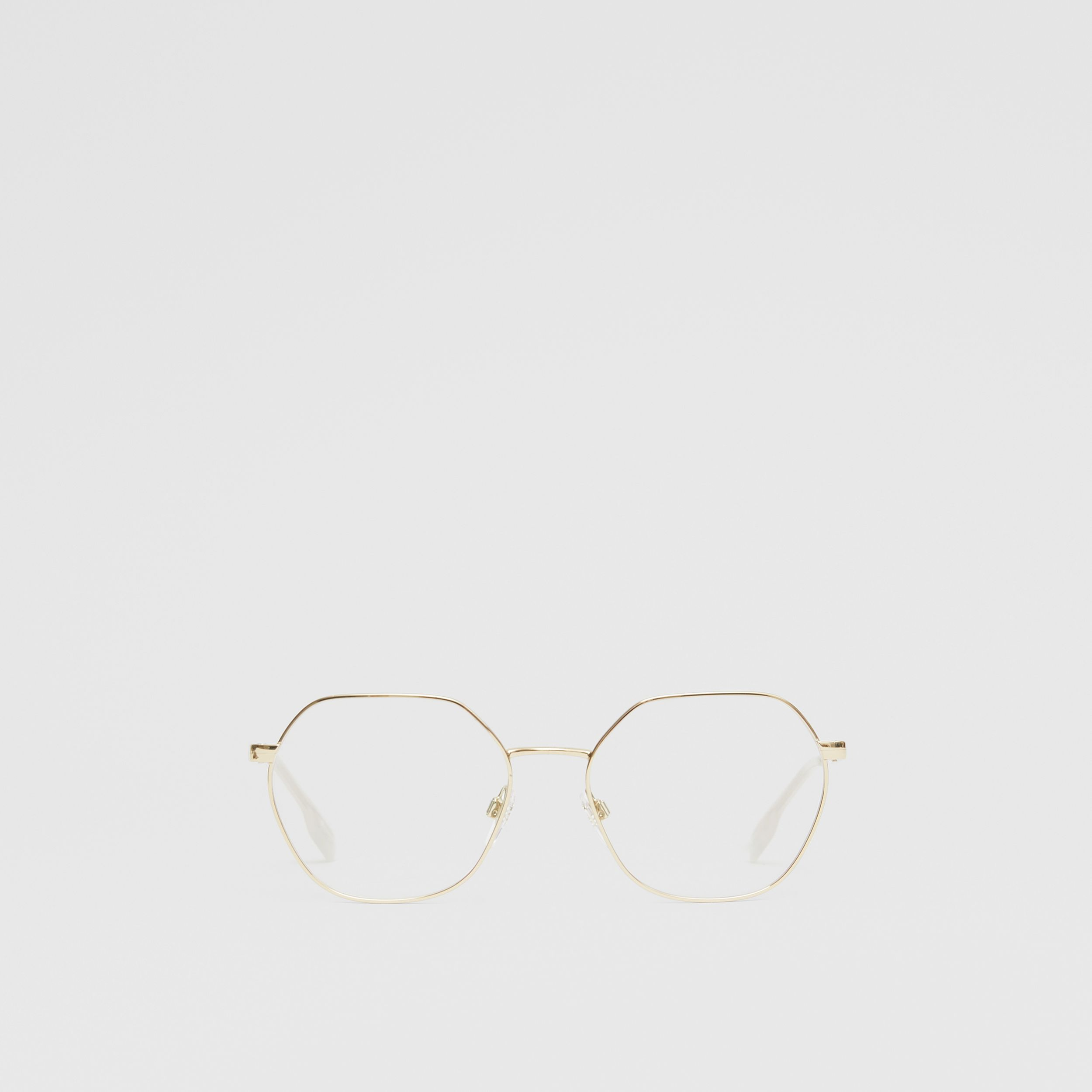 Geometric Optical Frames in Pearl - Women | Burberry - 1