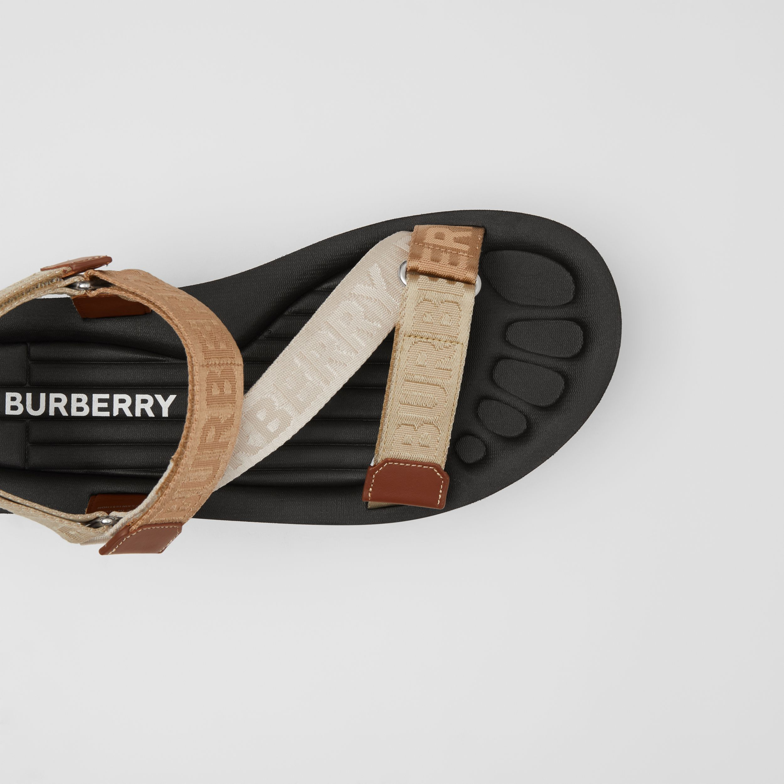 Logo Jacquard Sandals in Archive Beige - Women | Burberry - 2