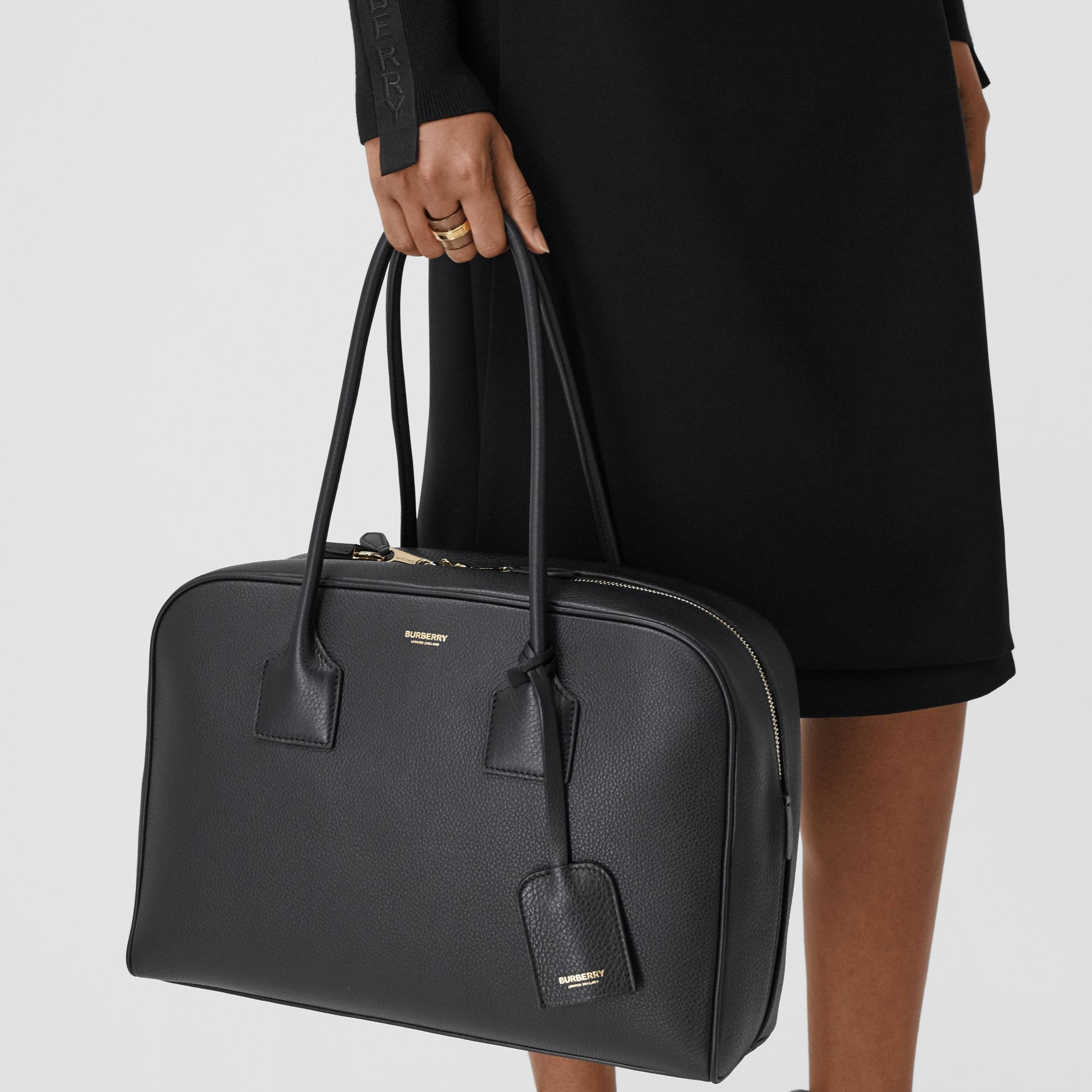 Large Leather Half Cube Bag in Black - Women | Burberry Hong Kong S.A.R. - 3