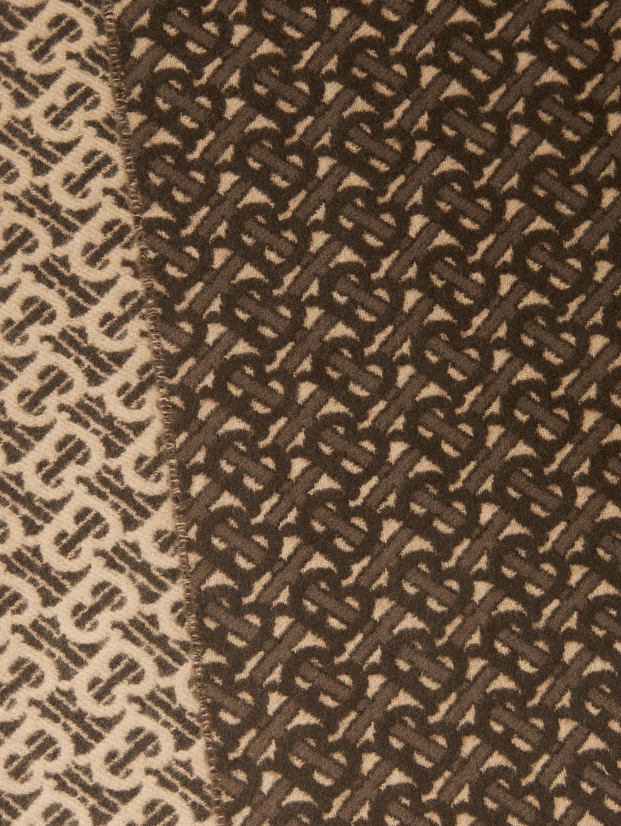 Monogram Cashmere Jacquard Scarf in Bridle Brown