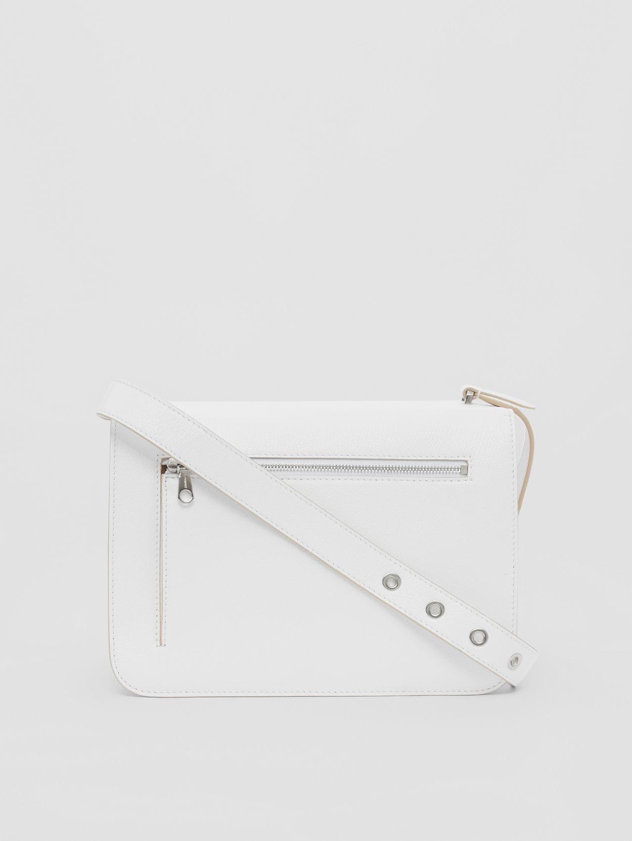 Medium Grainy Leather Alice Bag in Optic White