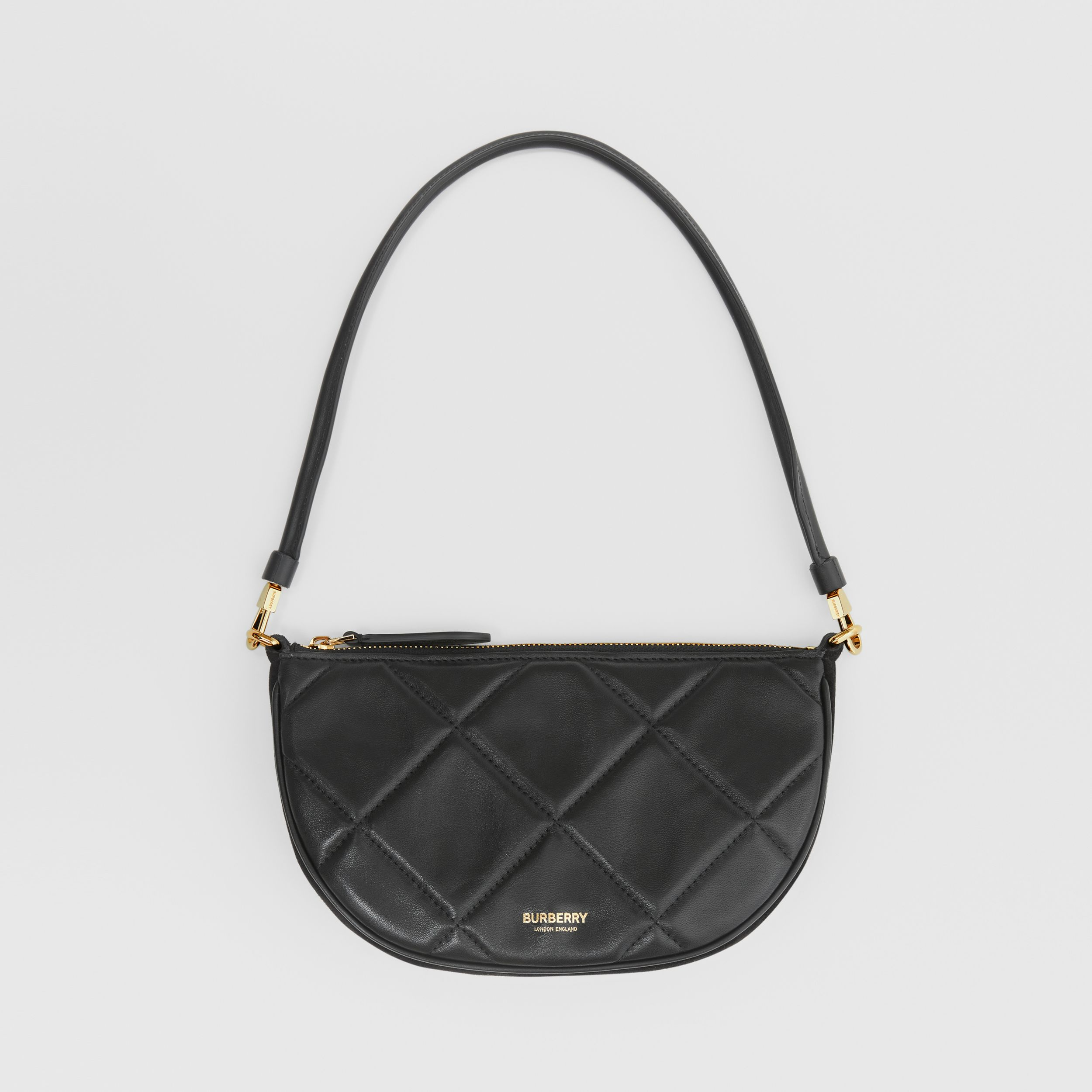 Quilted Lambskin Olympia Pouch in Black - Women | Burberry - 1