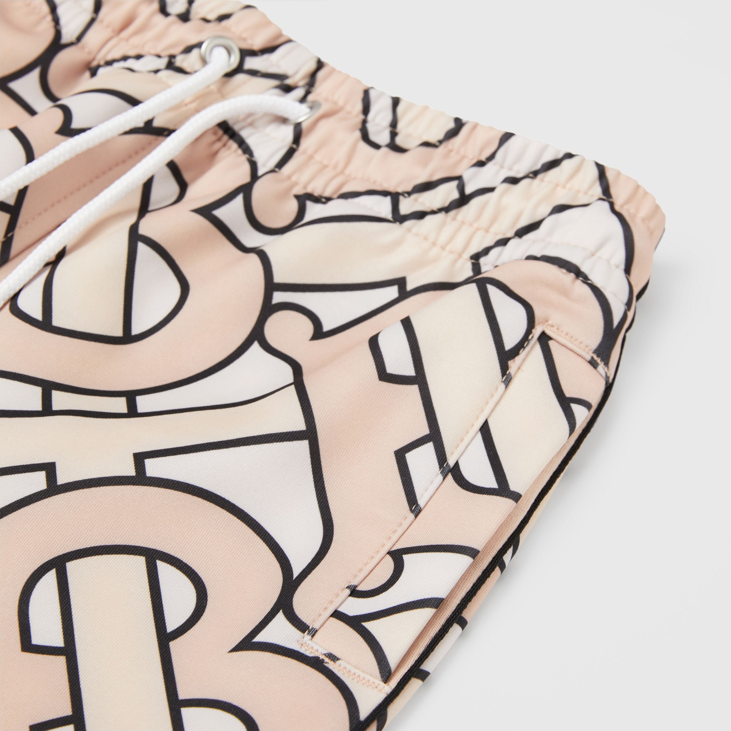 Monogram Print Technical Jersey Jogging Pants in Rose Pink | Burberry Hong Kong S.A.R. - 2