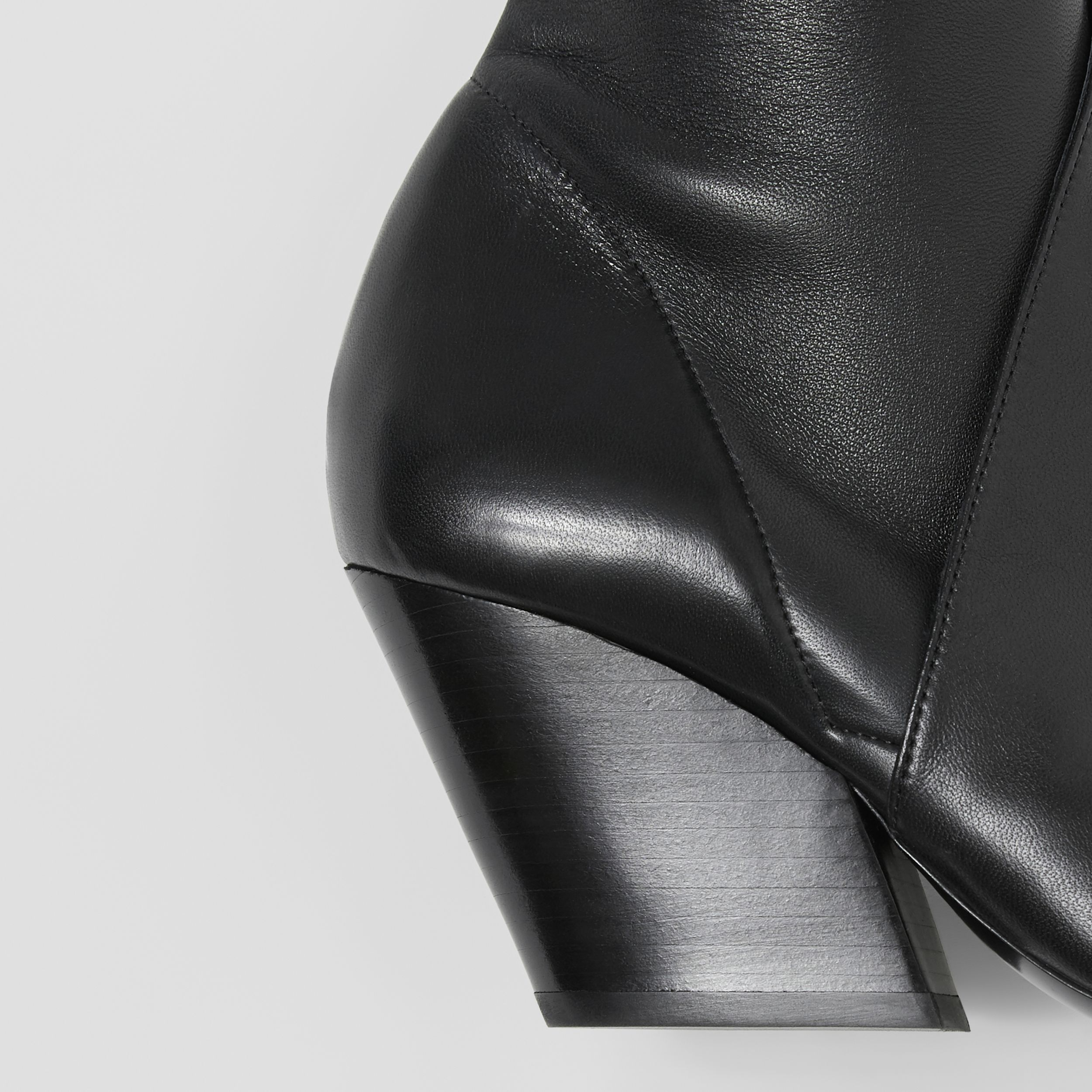 Panelled Lambskin Knee-high Boots in Black - Women | Burberry - 2