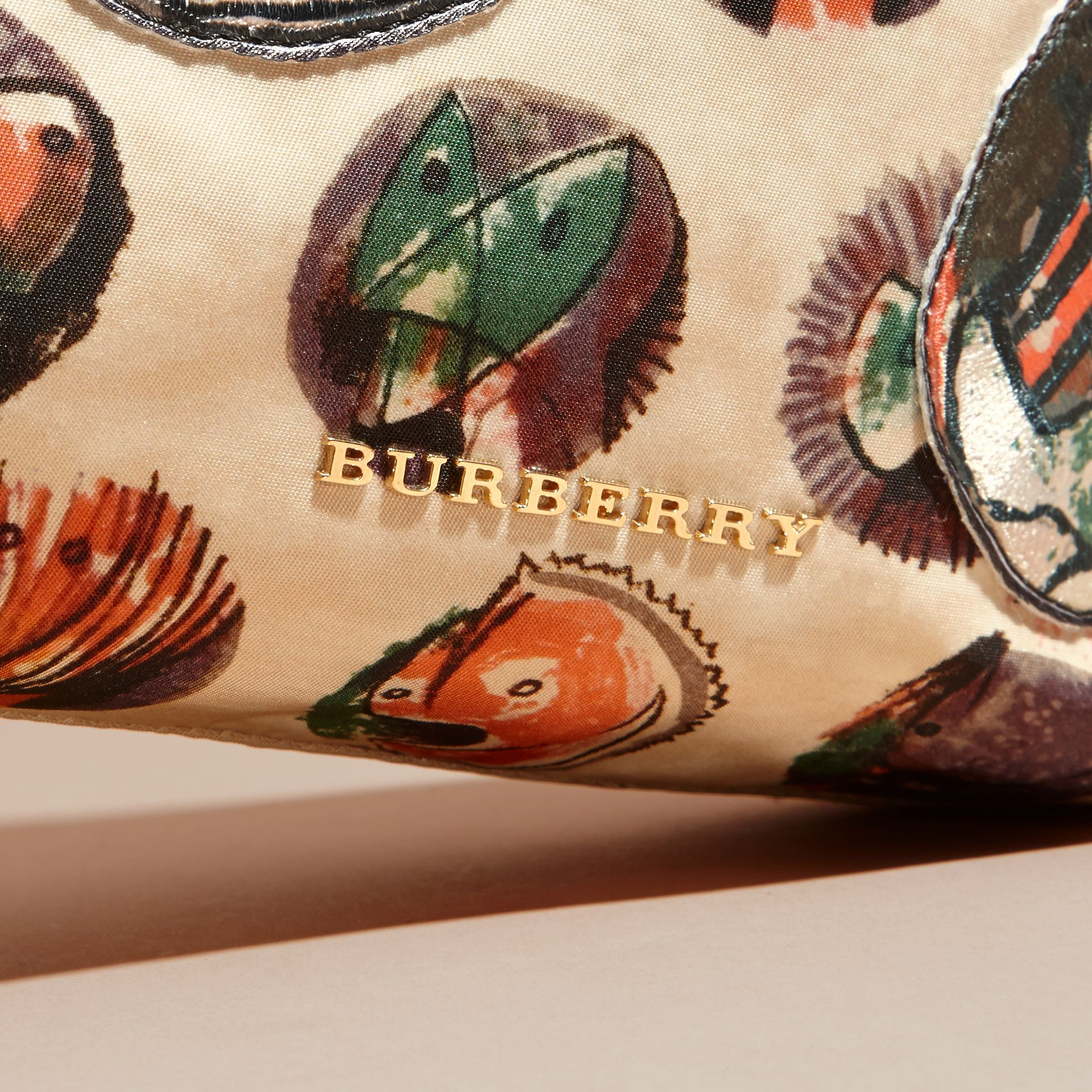 Large Zip-top Pallas Heads Print Pouch in Umber Brown - Women | Burberry - gallery image 2