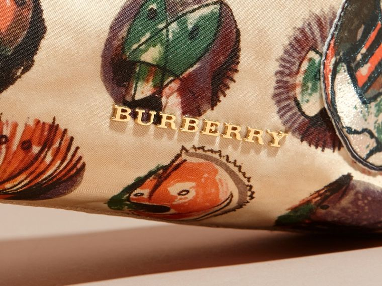 Large Zip-top Pallas Heads Print Pouch in Umber Brown - Women | Burberry - cell image 1