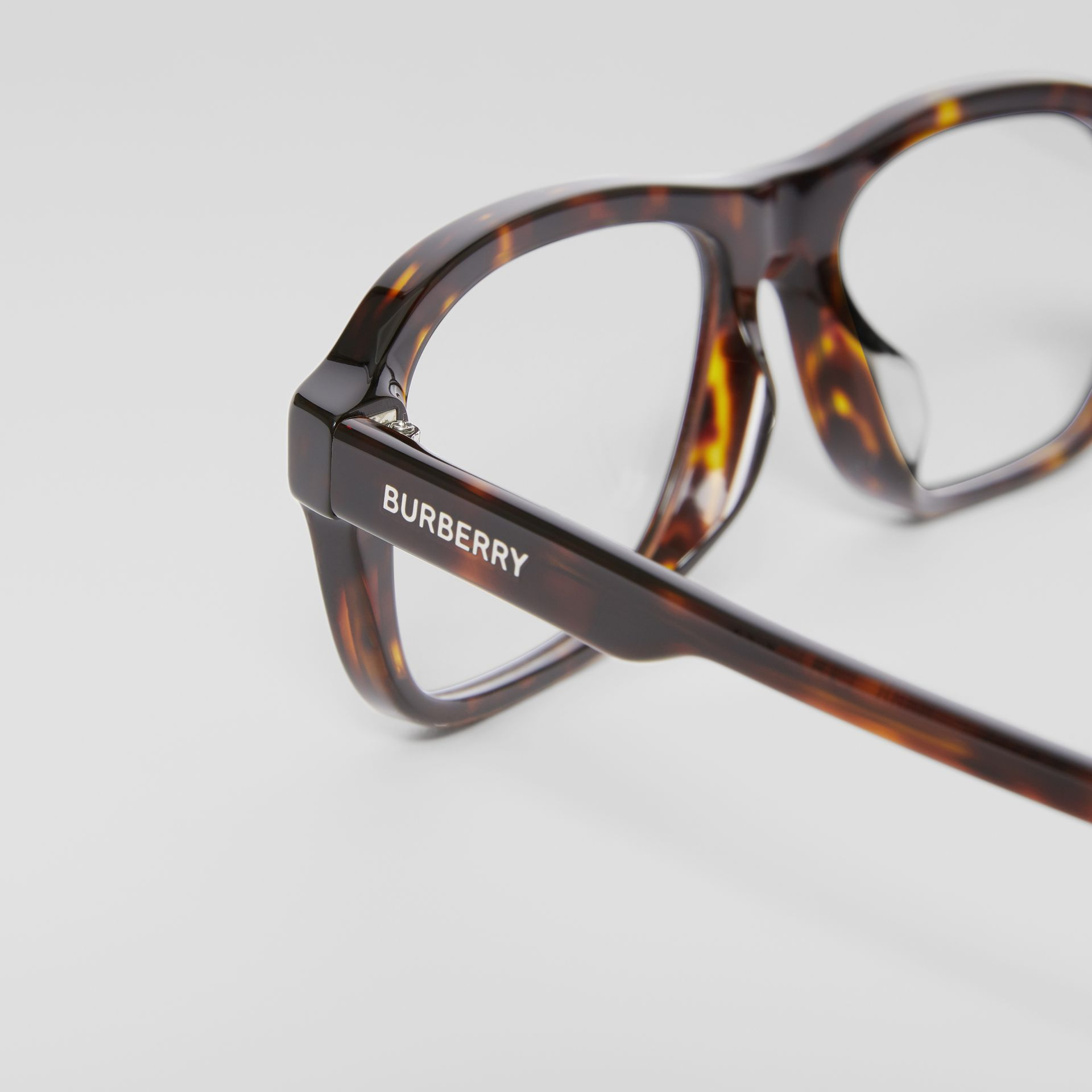 Rectangular Optical Frames in Tortoiseshell - Men | Burberry - gallery image 1
