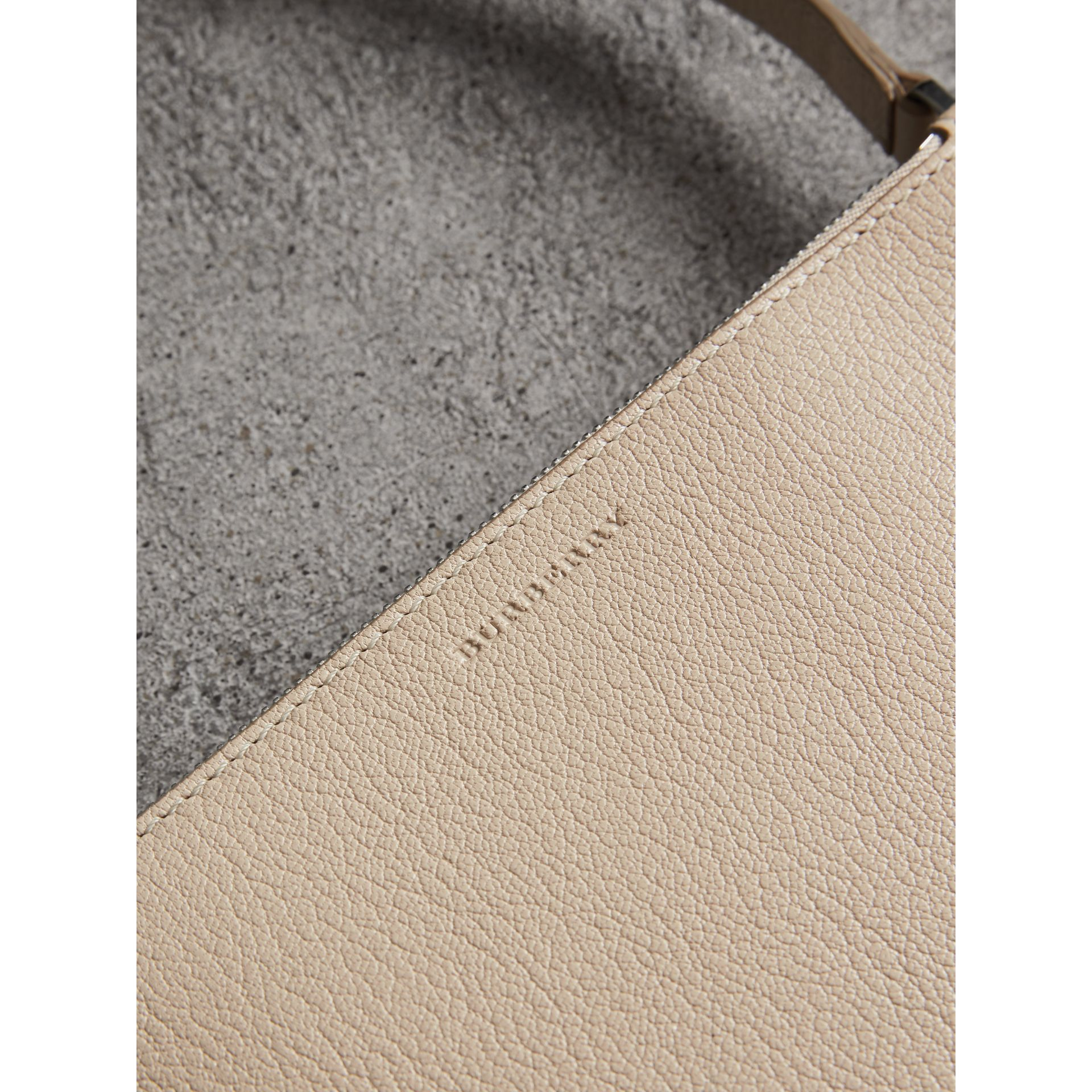 Triple Zip Grainy Leather Crossbody Bag in Stone - Women | Burberry United Kingdom - gallery image 1
