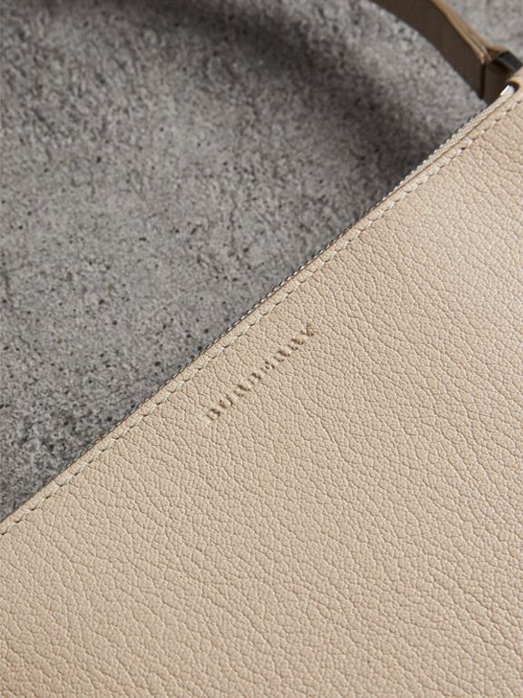 Triple Zip Grainy Leather Crossbody Bag in Stone - Women | Burberry United States - cell image 1