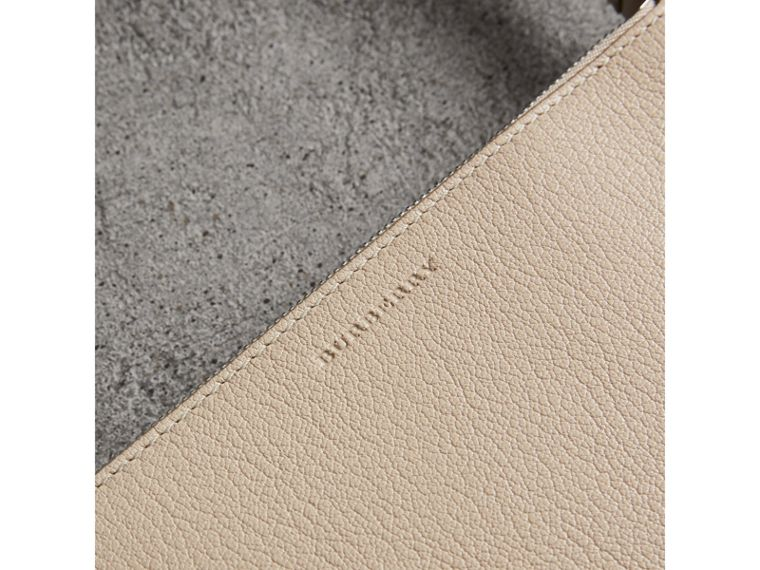 Triple Zip Grainy Leather Crossbody Bag in Stone - Women | Burberry - cell image 1