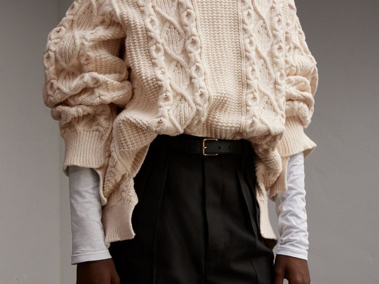 Cotton, Wool and Cashmere Blend Sculptural Sweater - Men | Burberry - cell image 4
