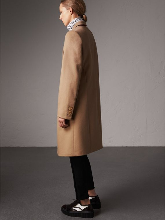 Wool Cashmere Tailored Coat in Camel - Women | Burberry - cell image 2