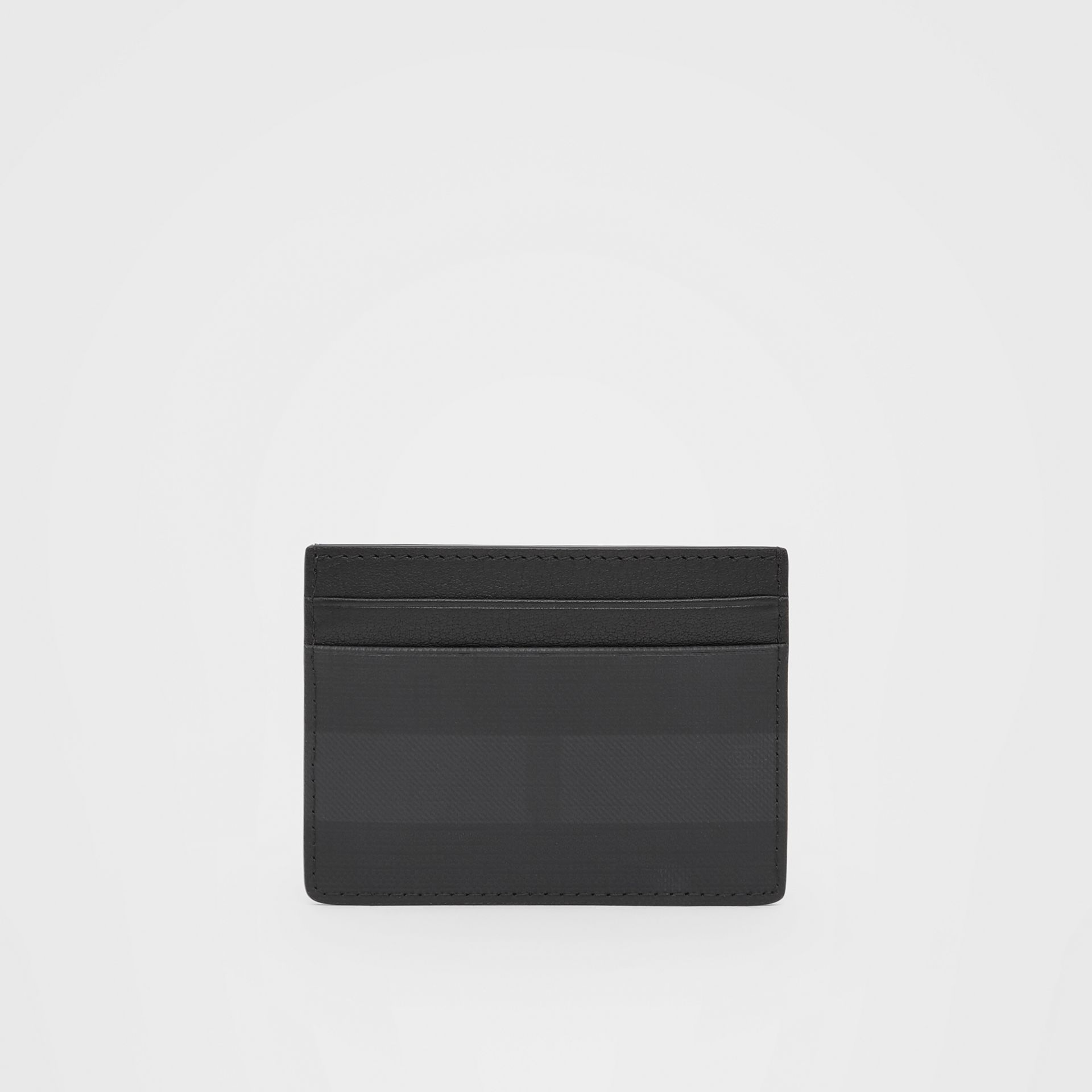 Logo Graphic London Check Card Case in Dark Charcoal - Men | Burberry - gallery image 4