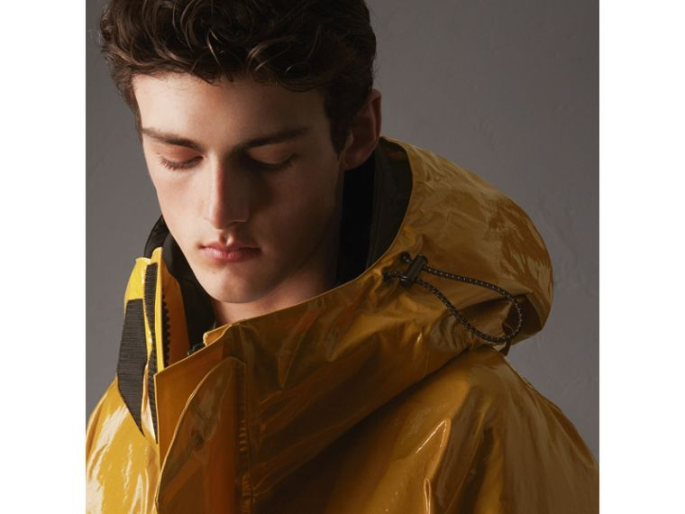 Seam-sealed Weatherproof Coat with Down-filled Warmer in Amber Yellow - Men | Burberry - cell image 1