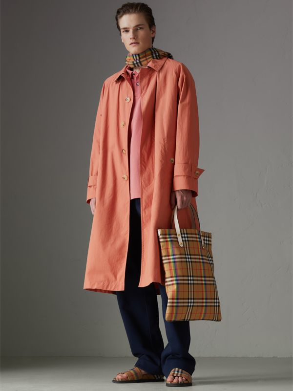 Rainbow Vintage Check Medium Shopper in Natural | Burberry - cell image 3