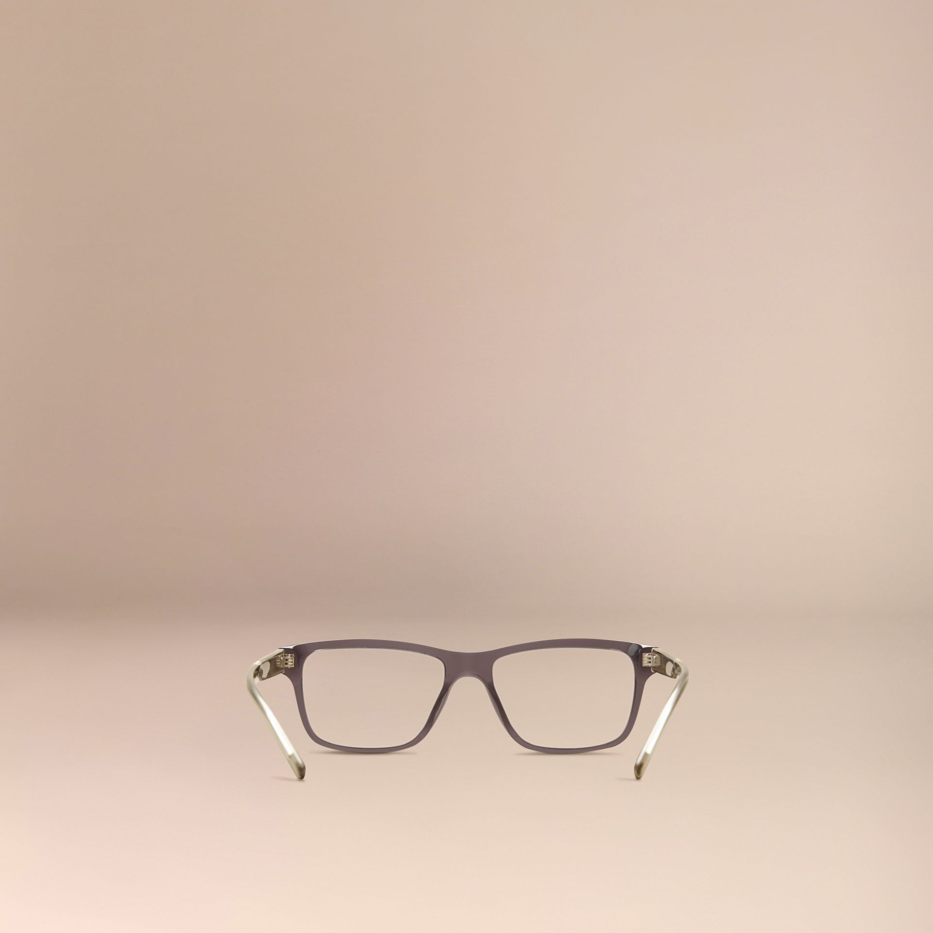 Dark grey Check Detail Rectangular Optical Frames Dark Grey - gallery image 3