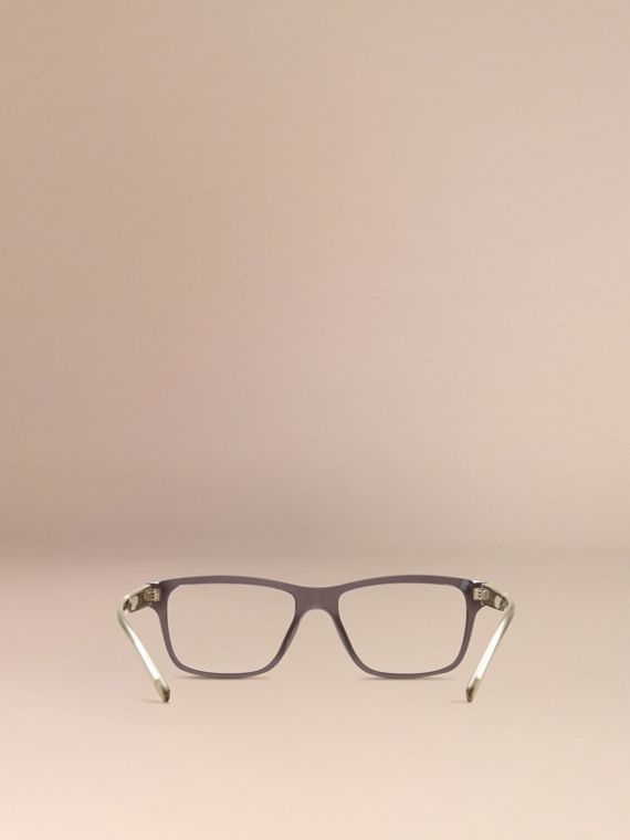 Check Detail Rectangular Optical Frames Dark Grey - cell image 2