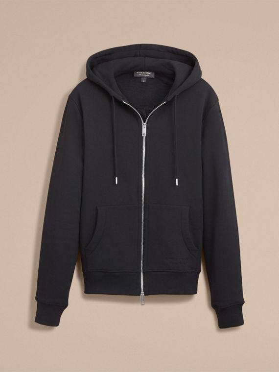Pallas Helmet Cotton Blend Jersey Hooded Top in Black - Men | Burberry - cell image 3