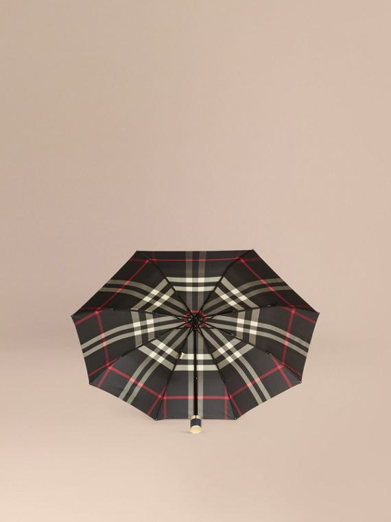 Check Folding Umbrella in Navy | Burberry - cell image 2