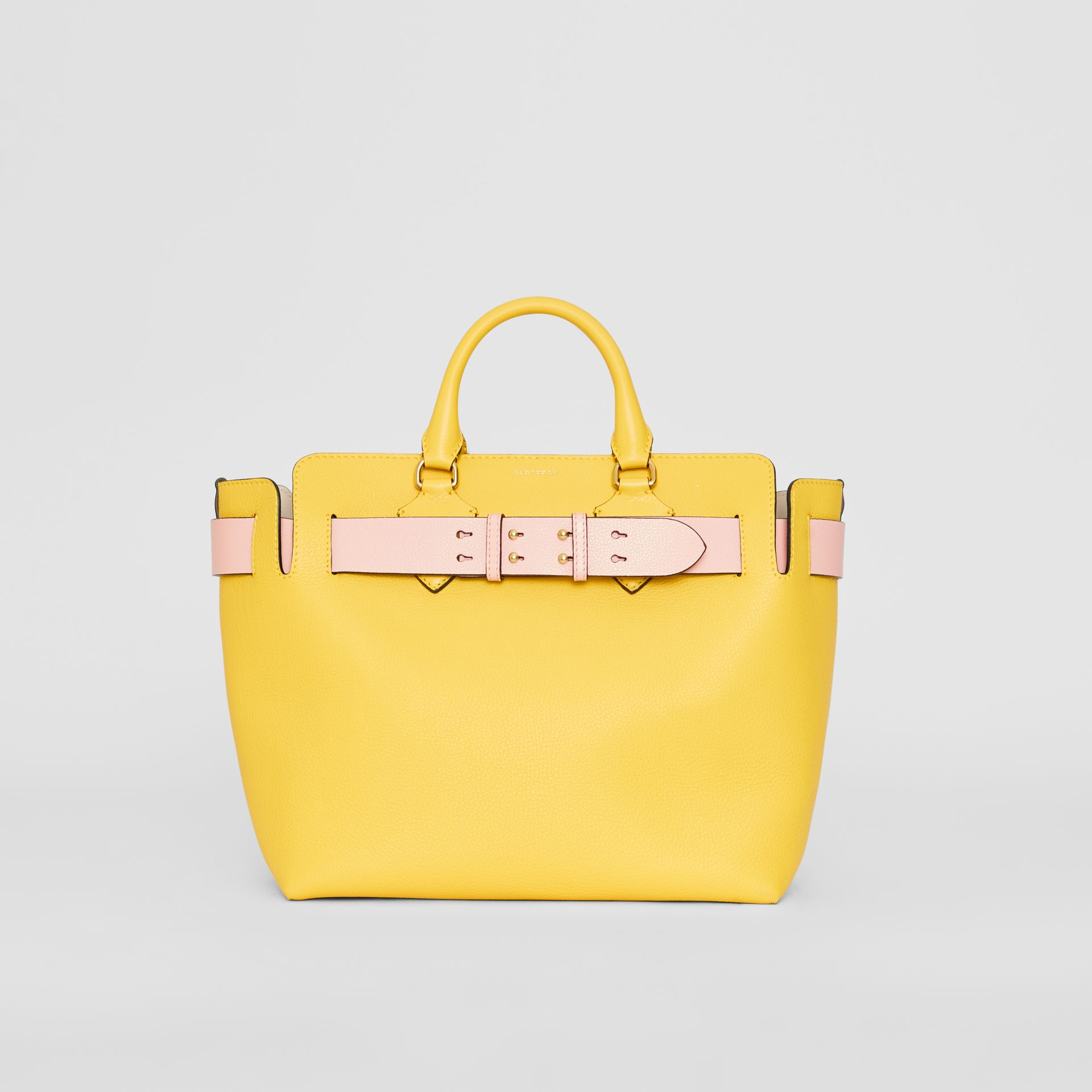 The Medium Leather Belt Bag in Bright Larch Yellow - Women | Burberry Singapore - gallery image 6