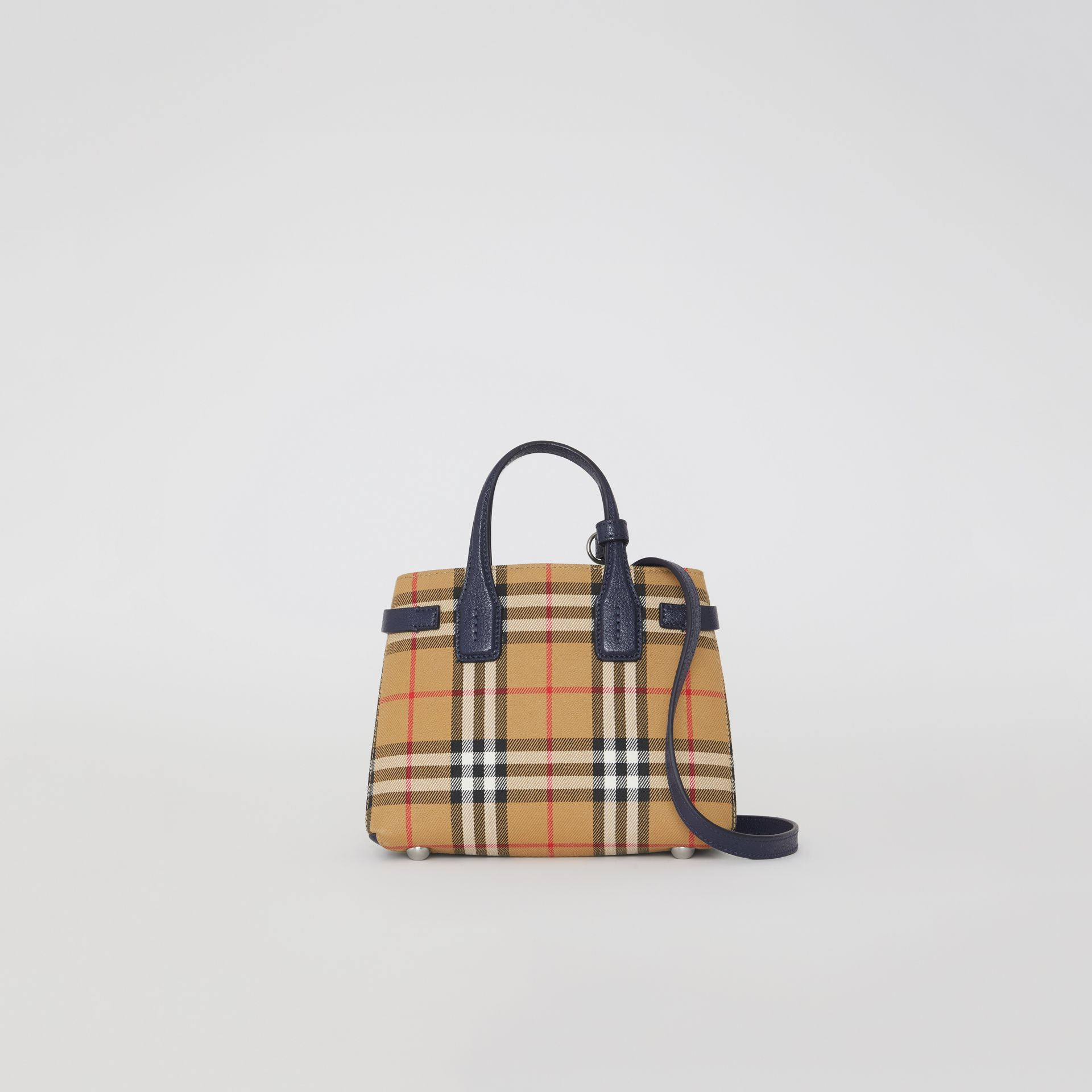 The Baby Banner in Vintage Check and Leather in Regency Blue - Women | Burberry United States - gallery image 0