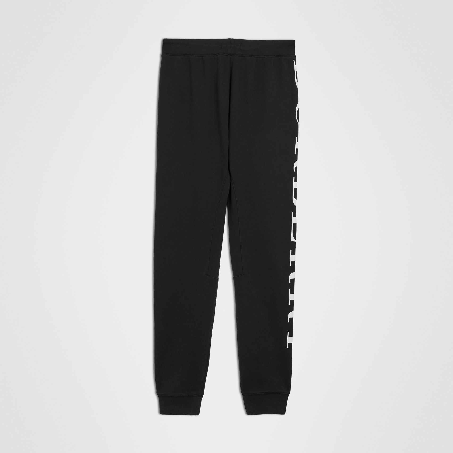 Logo Print Cotton Trackpants in Black | Burberry Singapore - gallery image 3