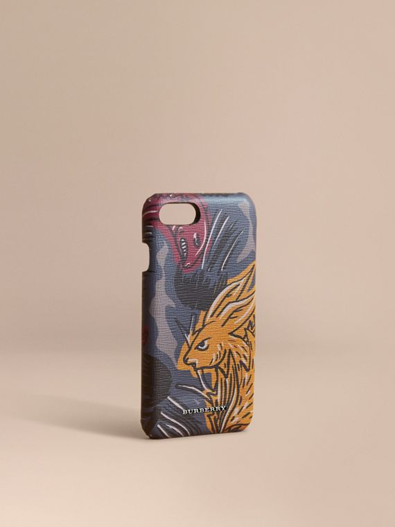 Beasts Print London Leather iPhone 7 Case - Men | Burberry Canada