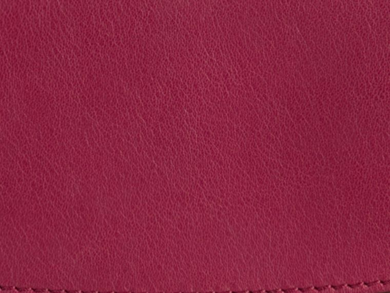 Dark plum Horseferry Check and Leather Ziparound Wallet Dark Plum - cell image 1