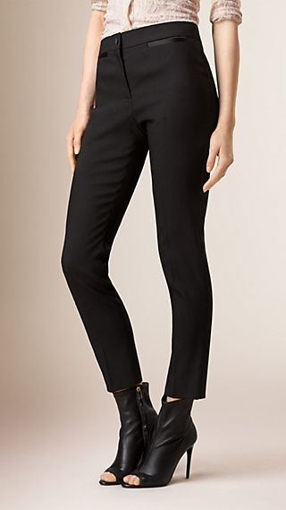 Slim Fit Tailored Tuxedo Trousers