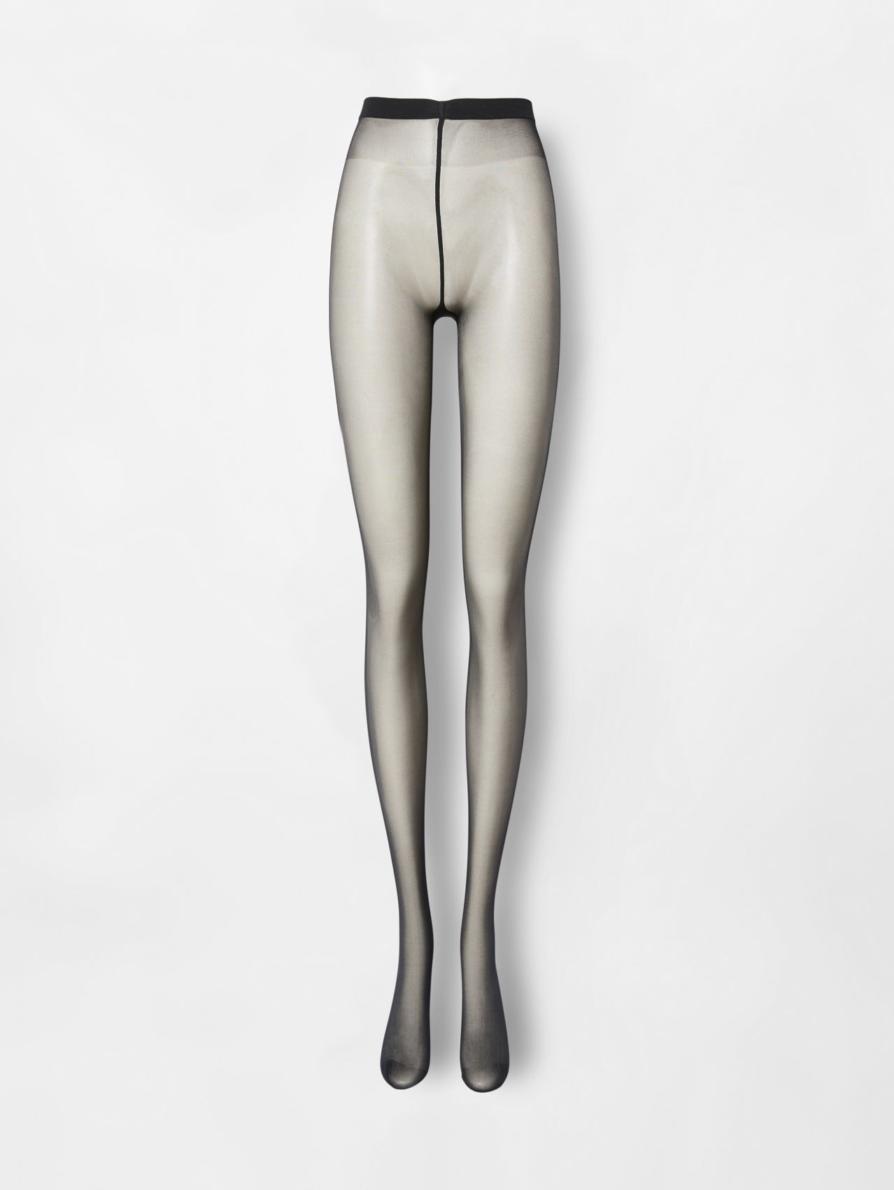 Monogram Motif Seamed Tights in Black