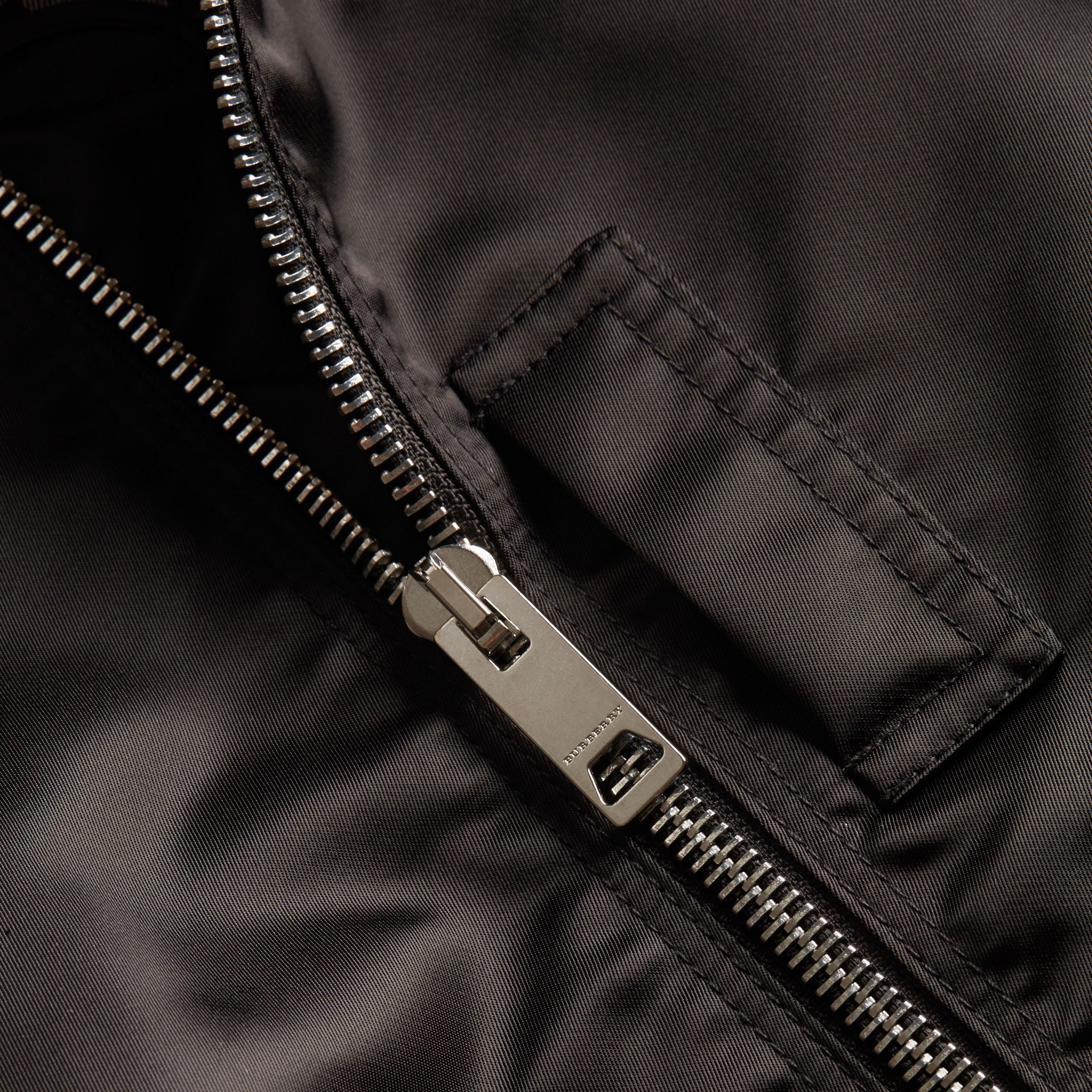 Technical Bomber Jacket Black - gallery image 2
