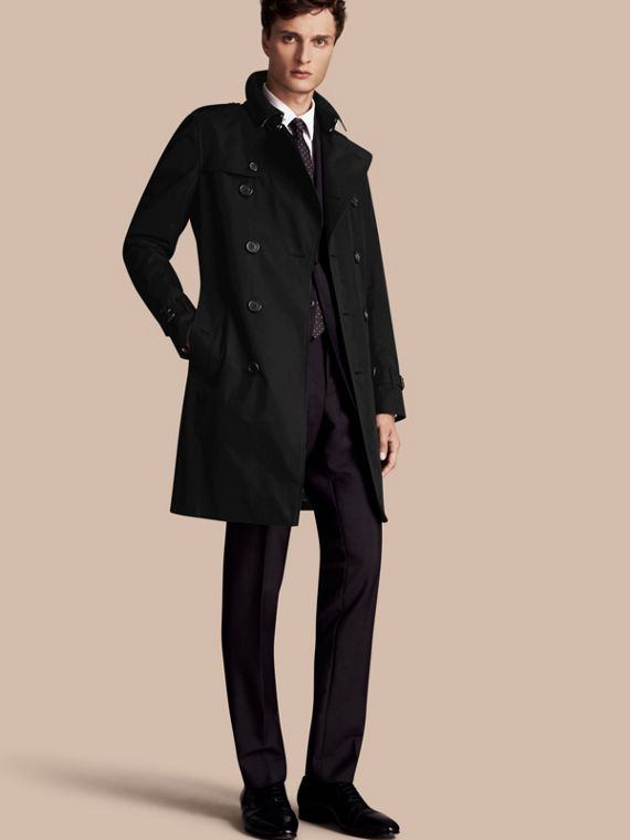 The Sandringham - Trench coat Heritage lungo Nero