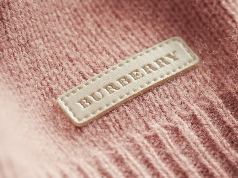 Cashmere Two-piece Baby Gift Set in Dusty Pink | Burberry - cell image 1