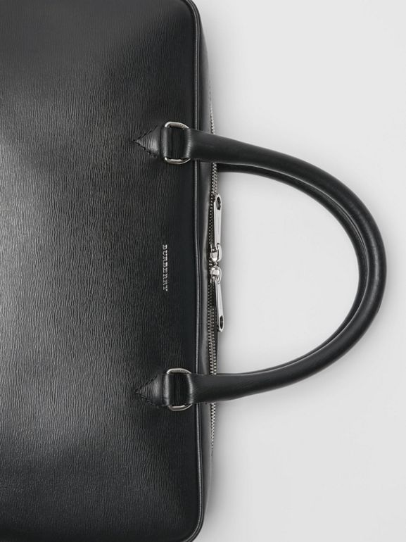 London Leather Briefcase in Black - Men | Burberry Canada - cell image 1