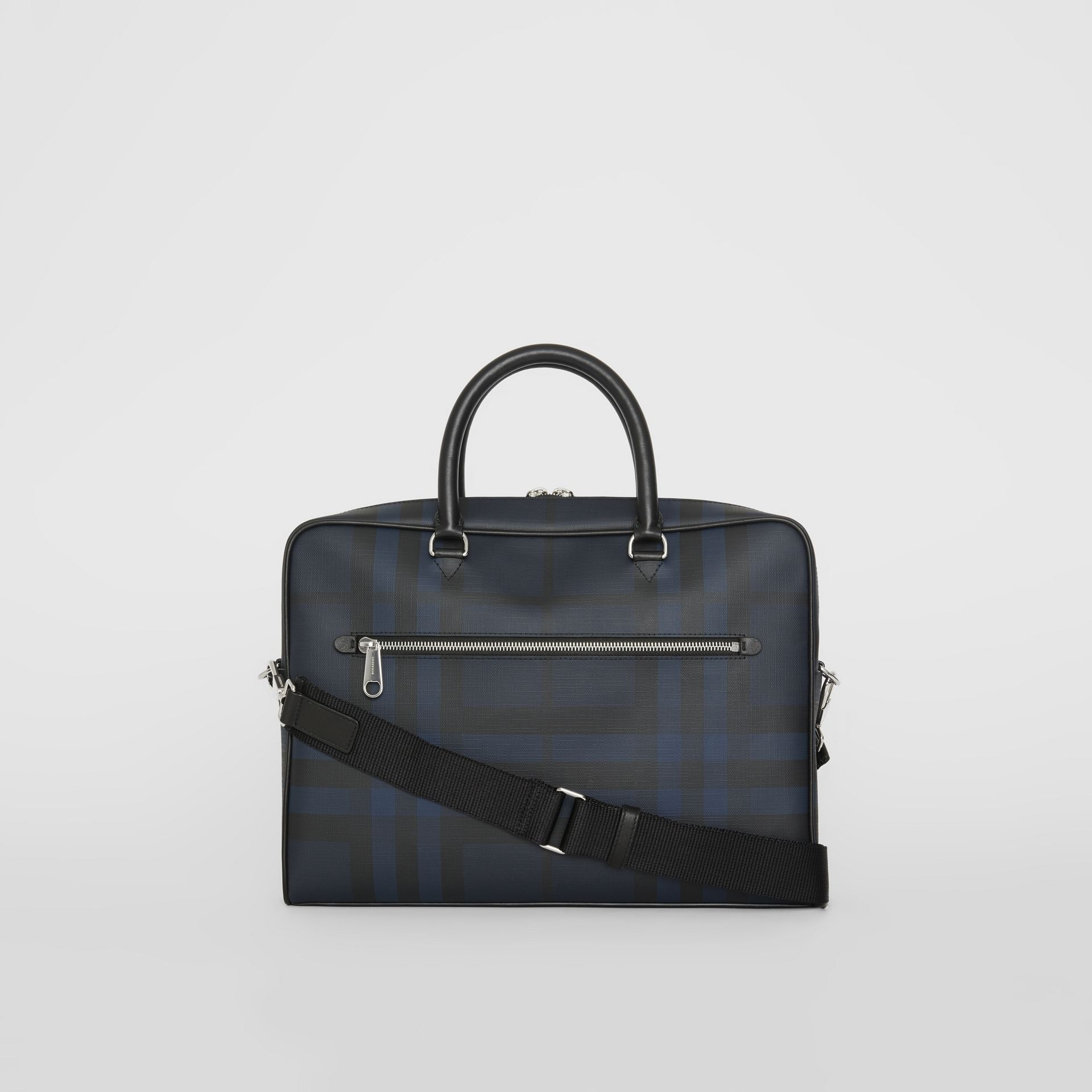 Large London Check Briefcase in Navy/black - Men | Burberry - gallery image 5