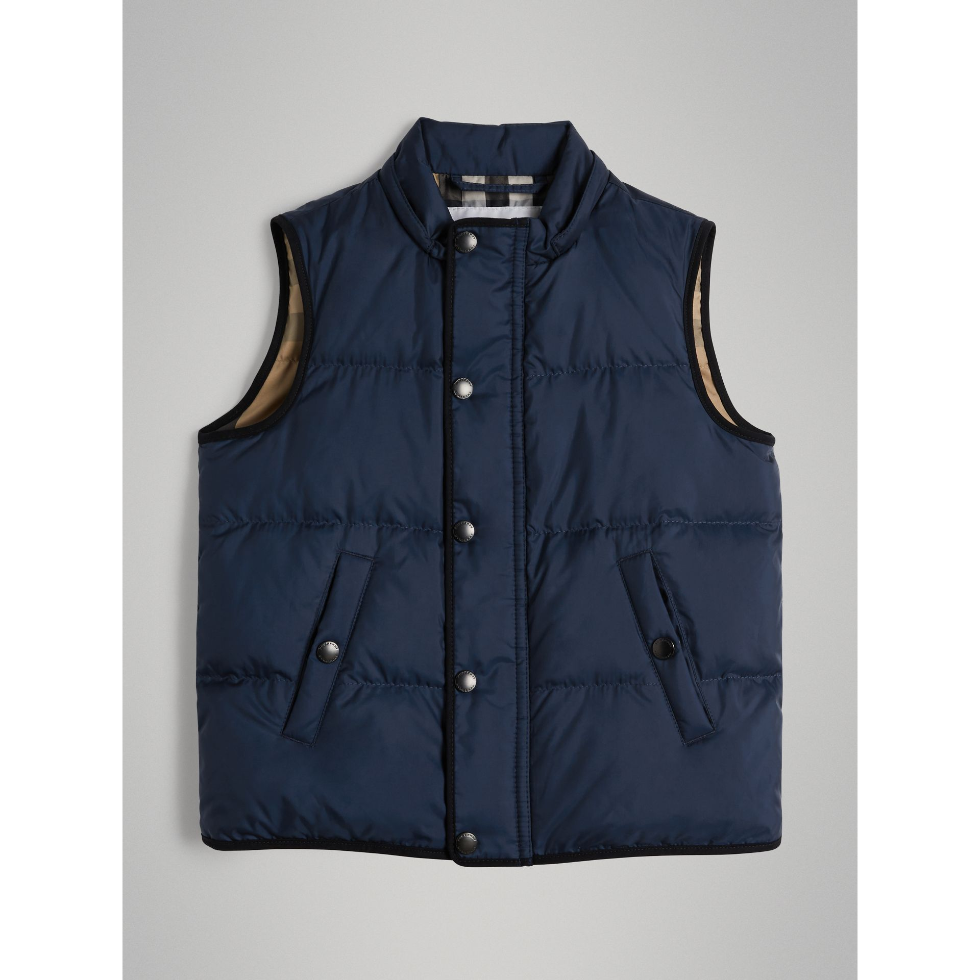 Down-filled Hooded Gilet in Ink Blue - Boy | Burberry - gallery image 0