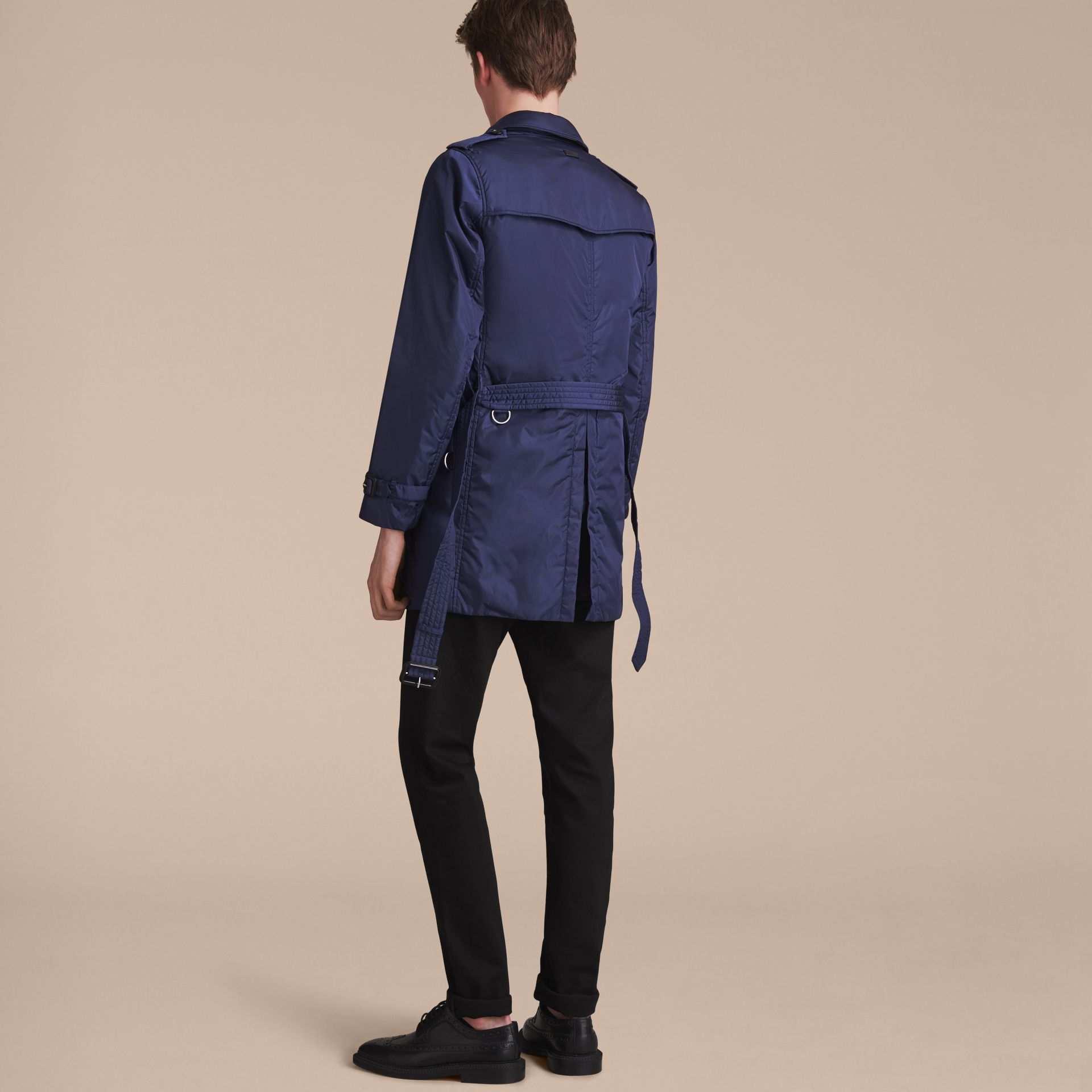 Showerproof Technical Trench Coat with Detachable Warmer - gallery image 7