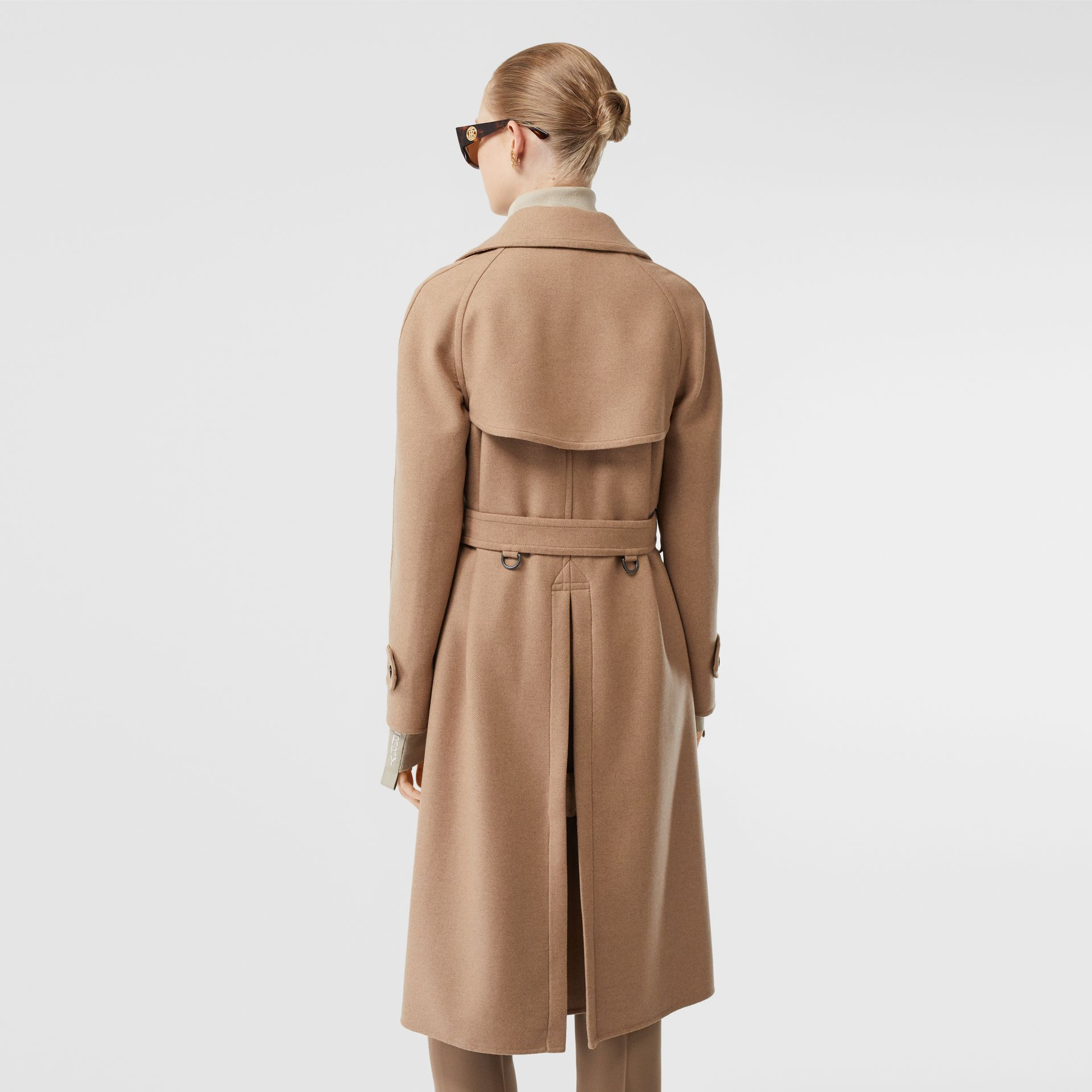 Double-faced Cashmere Trench Coat in Camel - Women | Burberry - gallery image 2