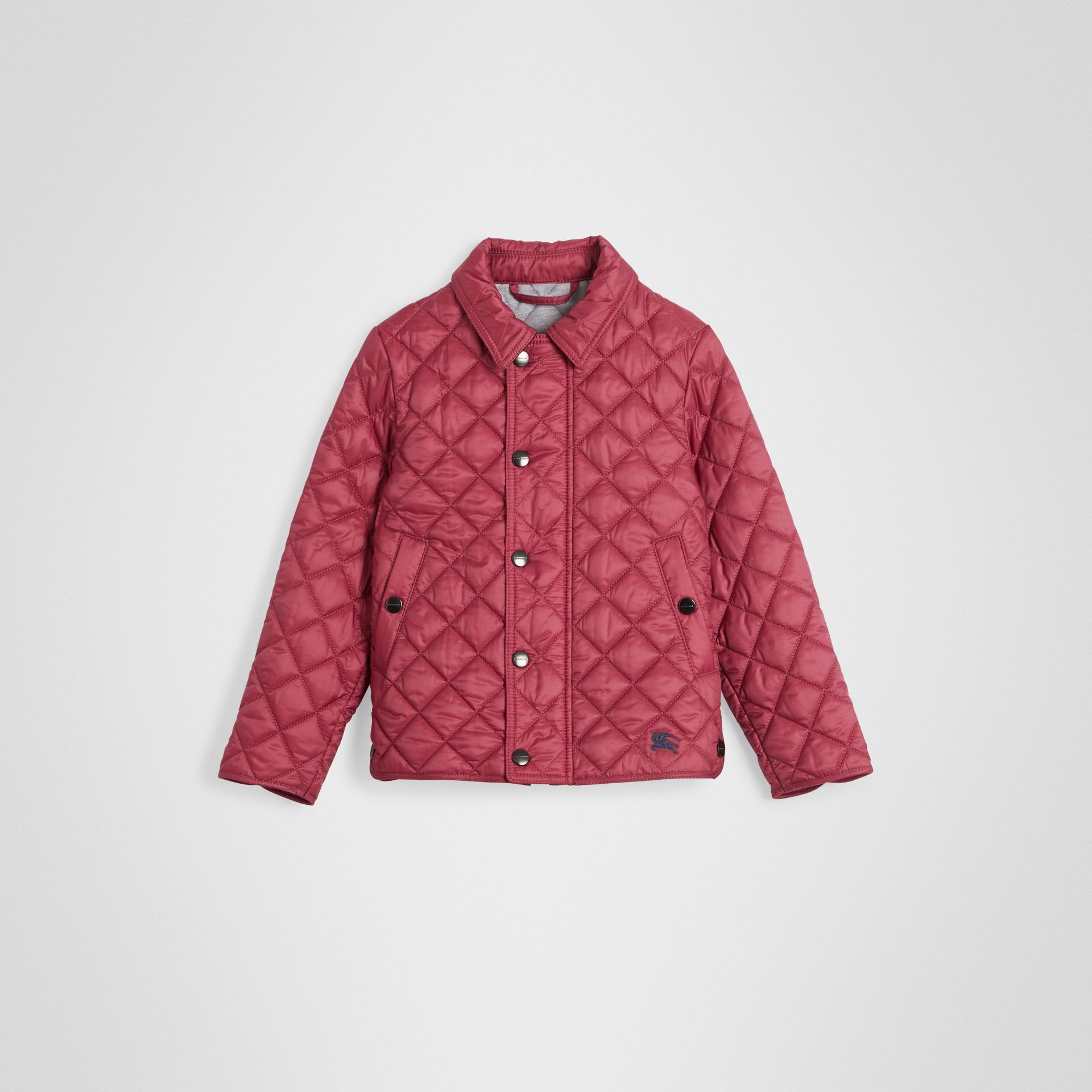 Lightweight Diamond Quilted Jacket in Peony Rose | Burberry United Kingdom - gallery image 0