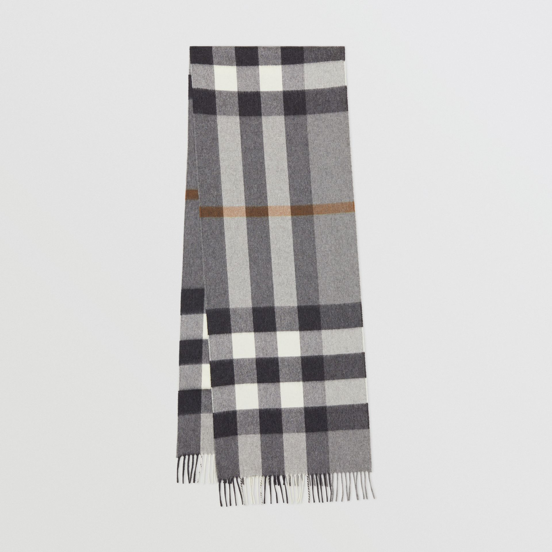 Check Cashmere Scarf in Grey | Burberry - gallery image 0