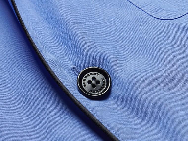 Mid blue Cotton Poplin Pyjama-style Shirt - cell image 1