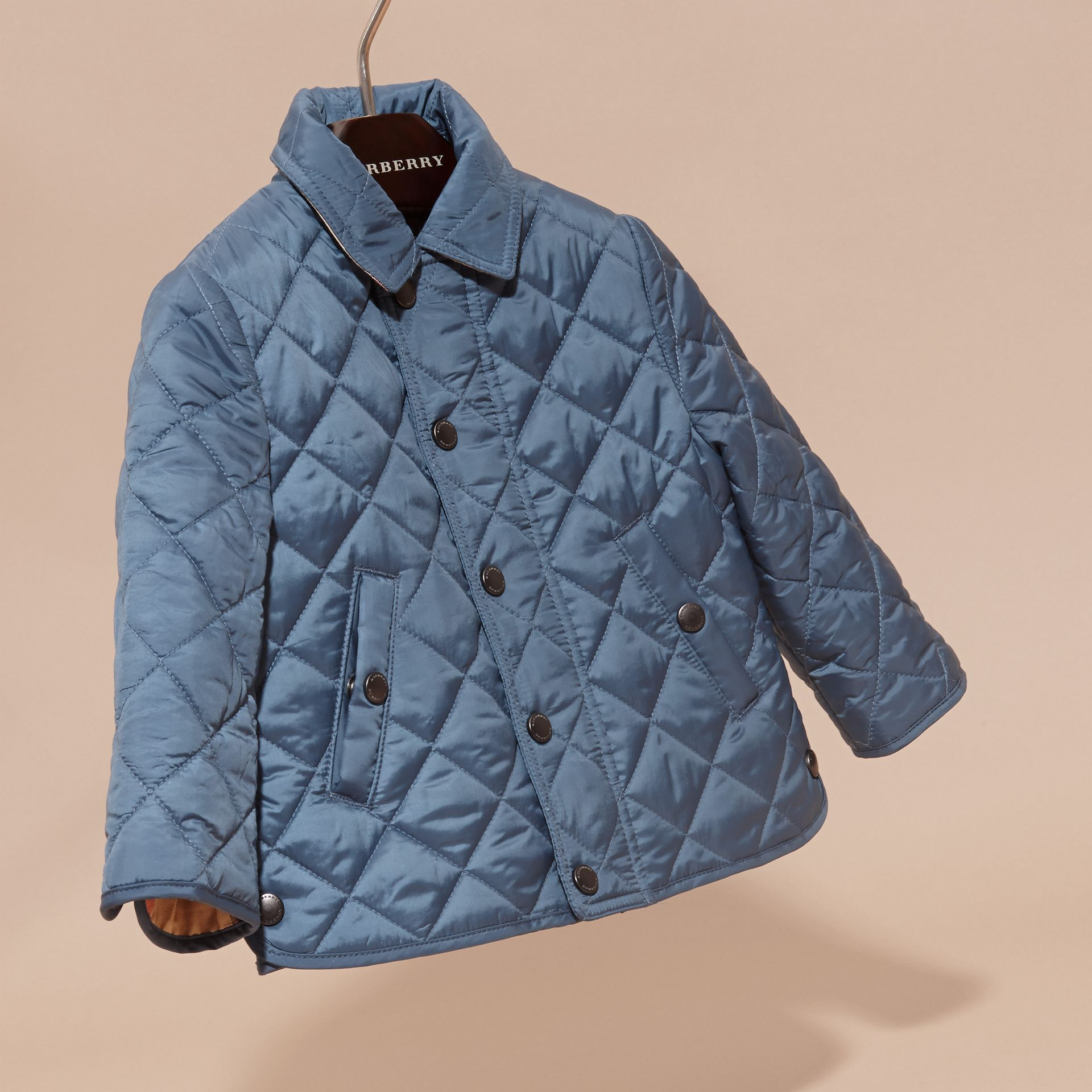 Bright steel blue Lightweight Quilted Jacket Bright Steel Blue - gallery image 3