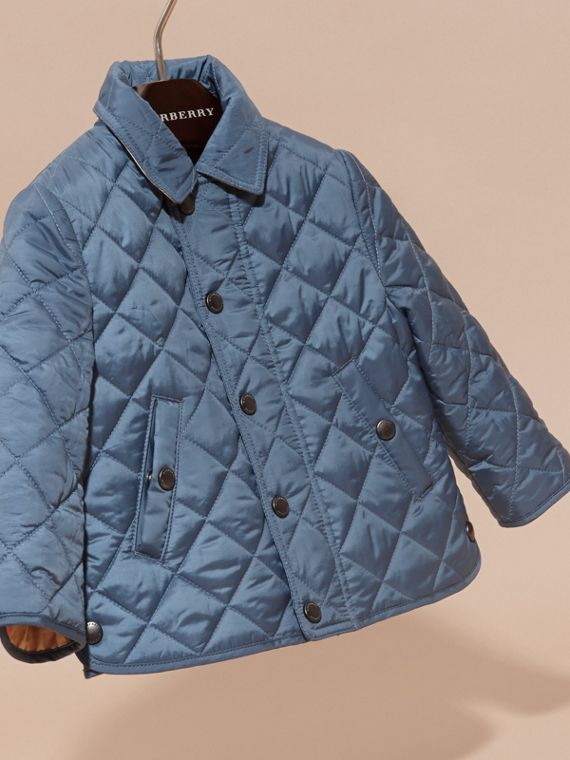 Bright steel blue Lightweight Quilted Jacket Bright Steel Blue - cell image 2