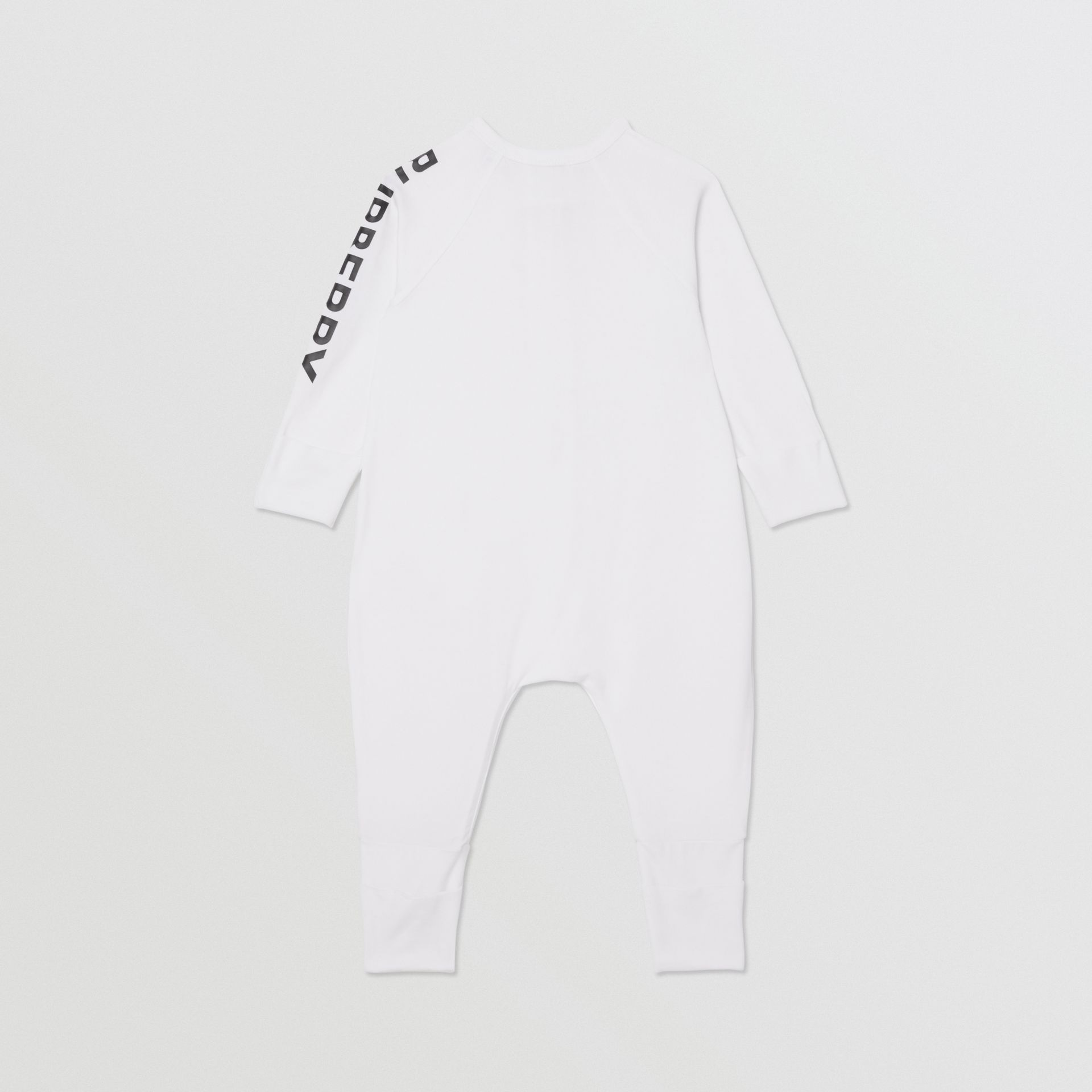 Logo Print Stretch Cotton Two-piece Baby Gift Set in White - Children | Burberry - gallery image 4