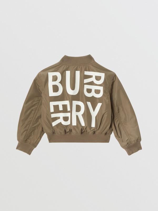 徽標印花形狀記憶塔夫塔綢飛行員外套 (卡其色) | Burberry - cell image 3
