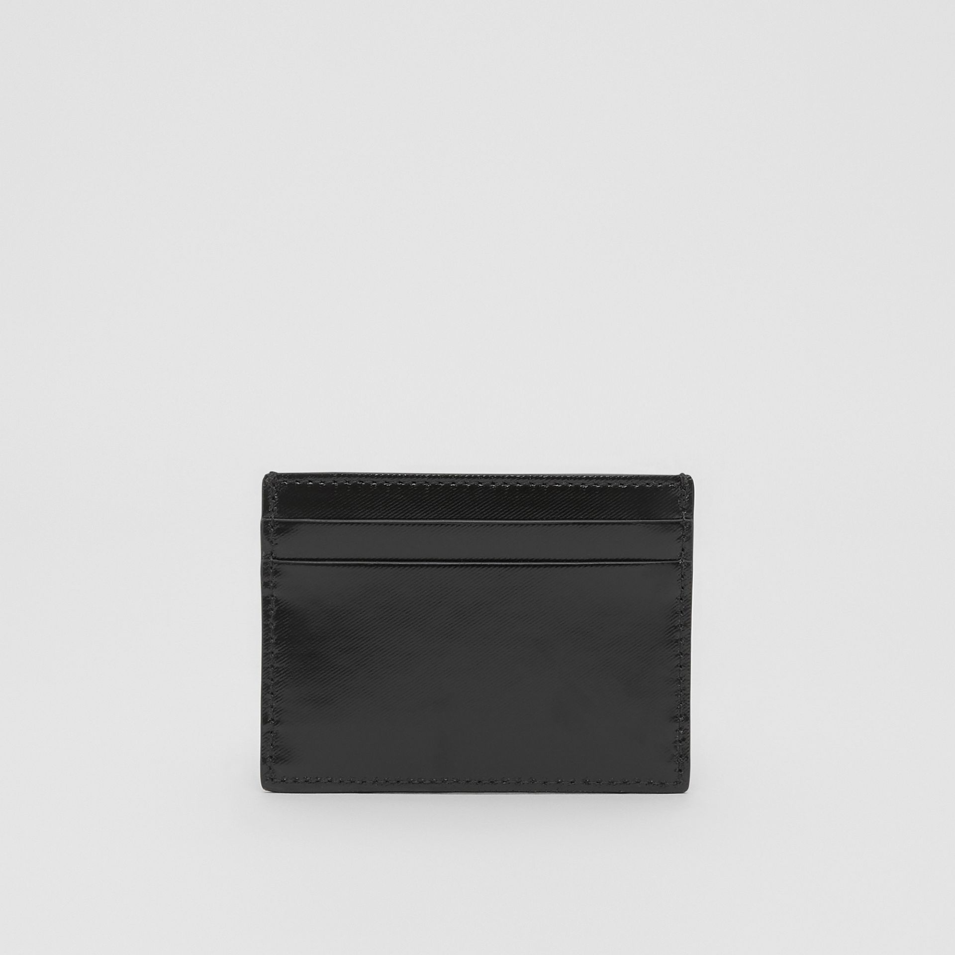 Logo Graphic Canvas Card Case in Black - Men | Burberry - gallery image 5